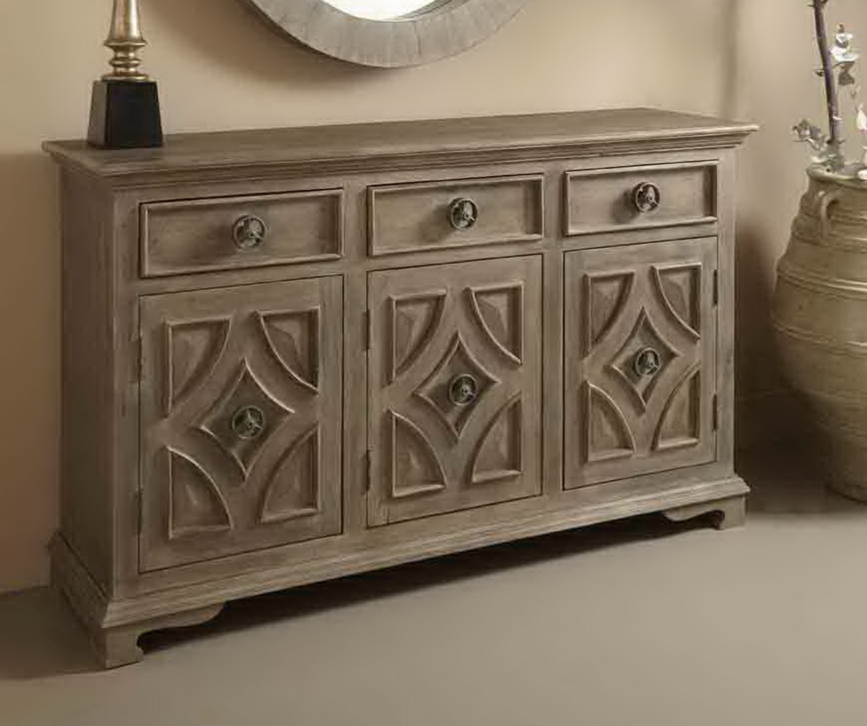 Carved Mango Wood Buffet | Wayfair Pertaining To Arminta Wood Sideboards (View 15 of 20)