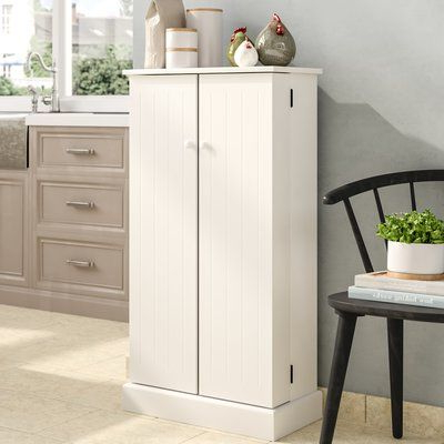 """Casale Kitchen Pantry Throughout Well Liked August Grove Teegarden 41"""" Kitchen Pantry Finish: White (View 8 of 20)"""