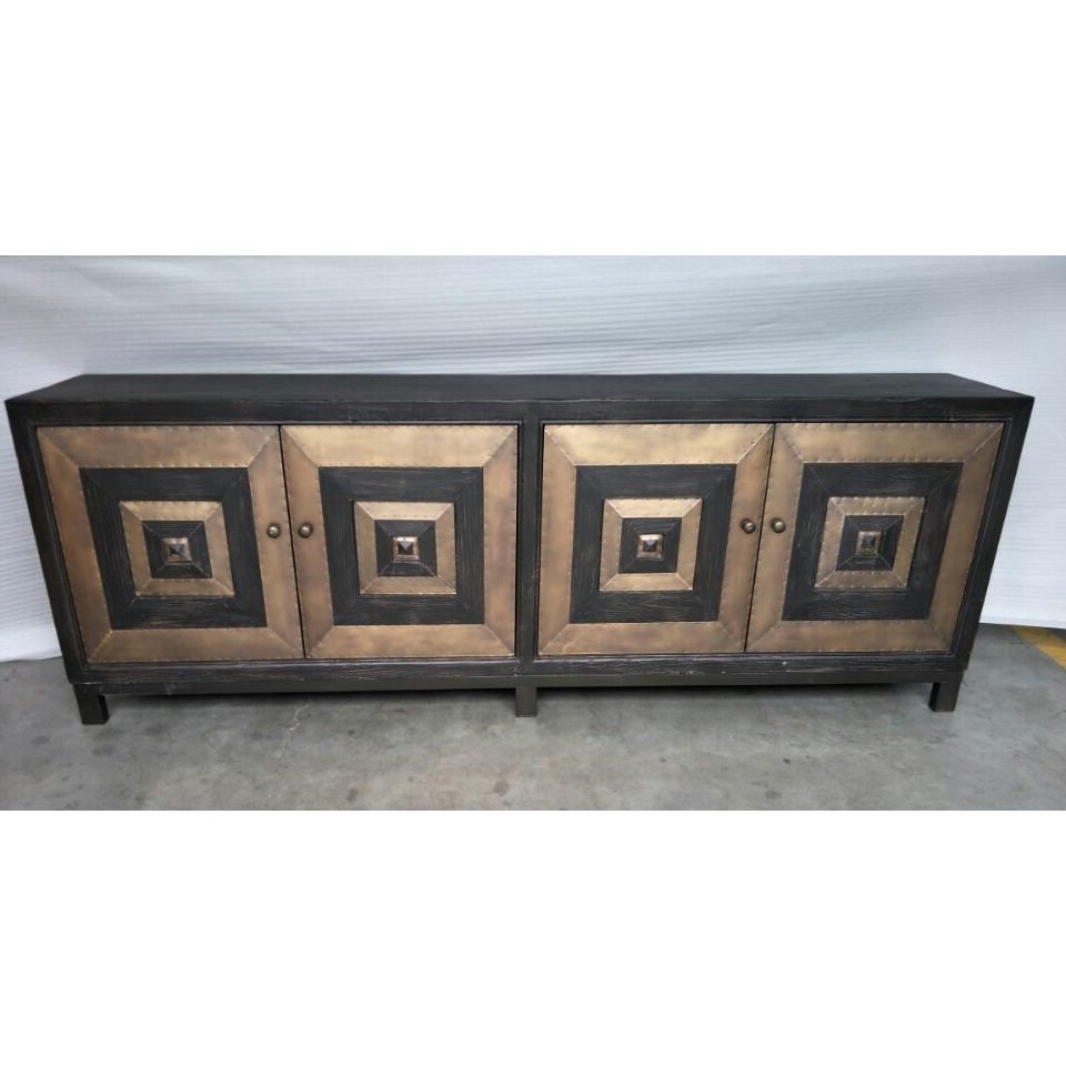 Cdh 4 Door Sideboard In Antique Brass Pertaining To Solana Sideboards (View 10 of 20)