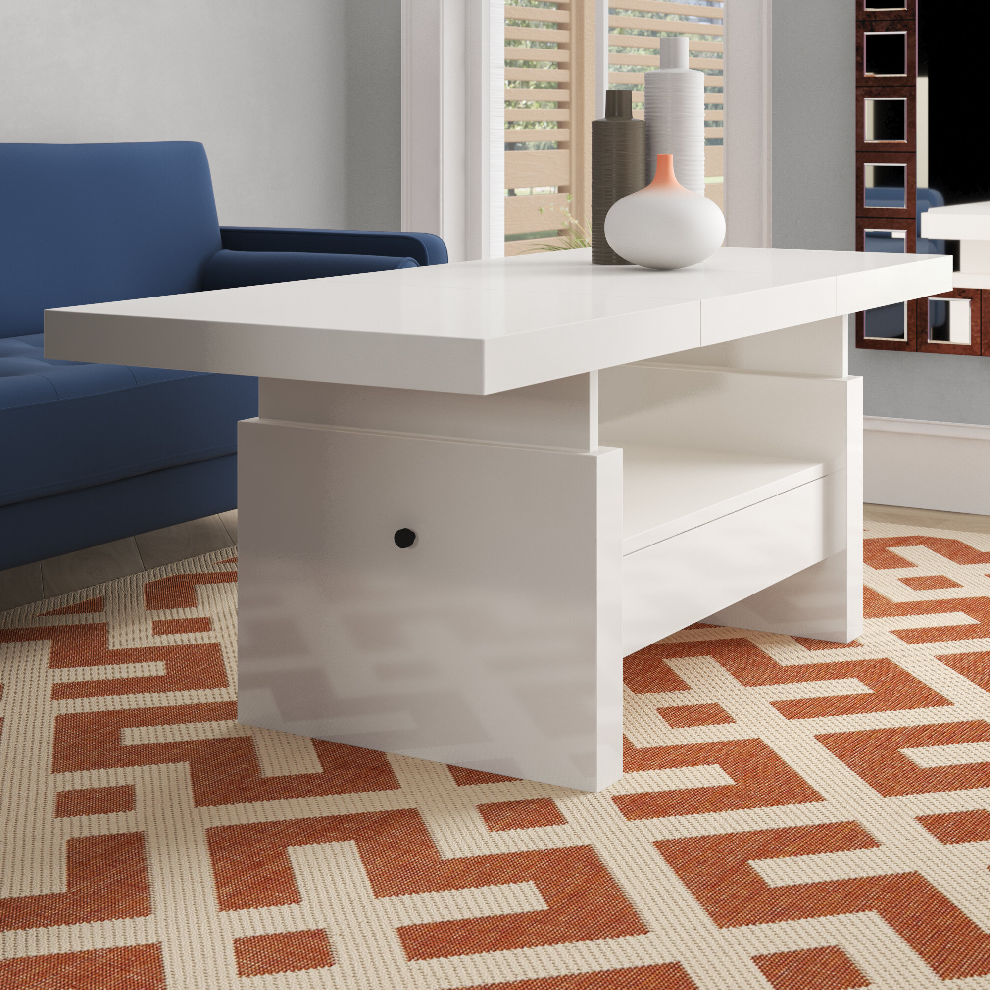 Celine Lift Top Coffee Table For Trendy Unfinished Solid Parawood Bombay Tall Lift Top Coffee Tables (View 10 of 20)