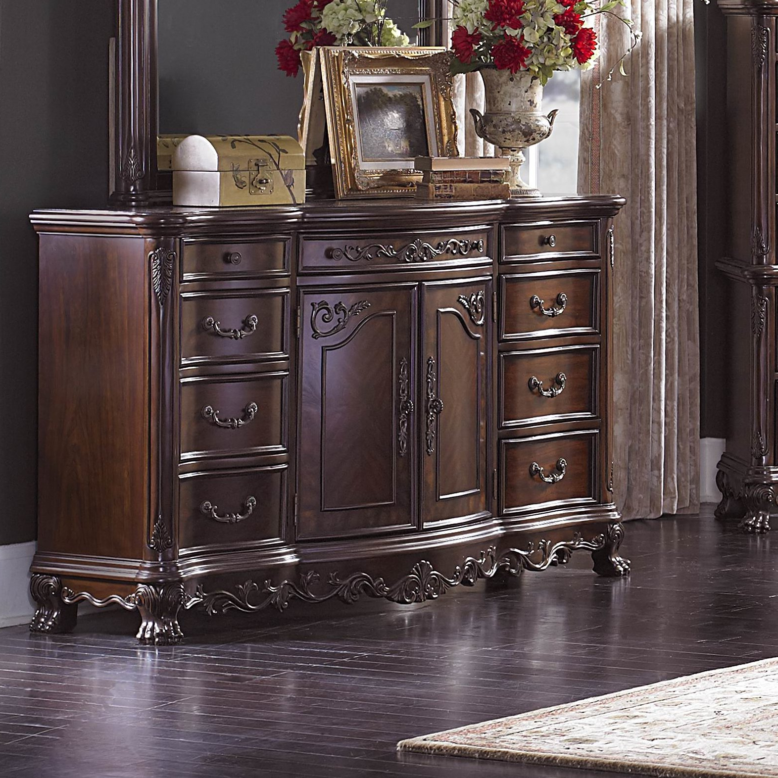 Chalus 9 Drawer Combo Dresser Pertaining To Chalus Sideboards (View 6 of 20)