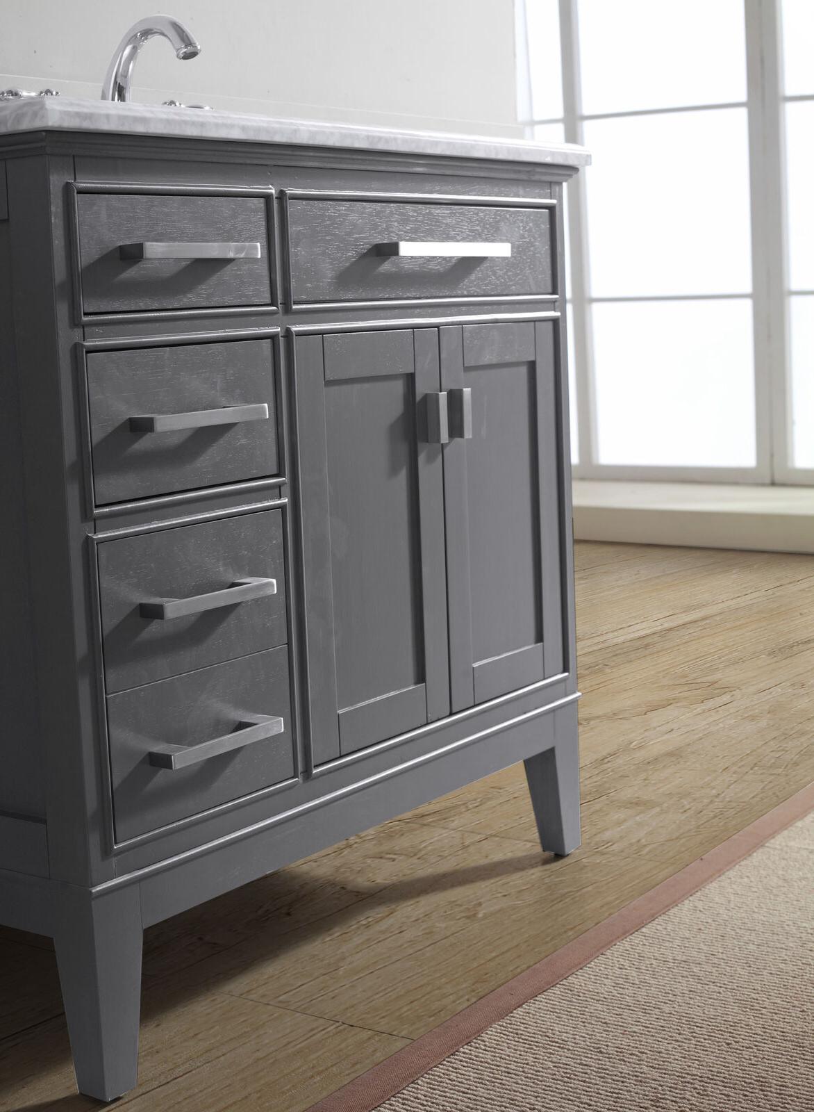 "Charlton Home Arminta 36"" Single Bathroom Vanity Set With Regard To Arminta Wood Sideboards (View 20 of 20)"