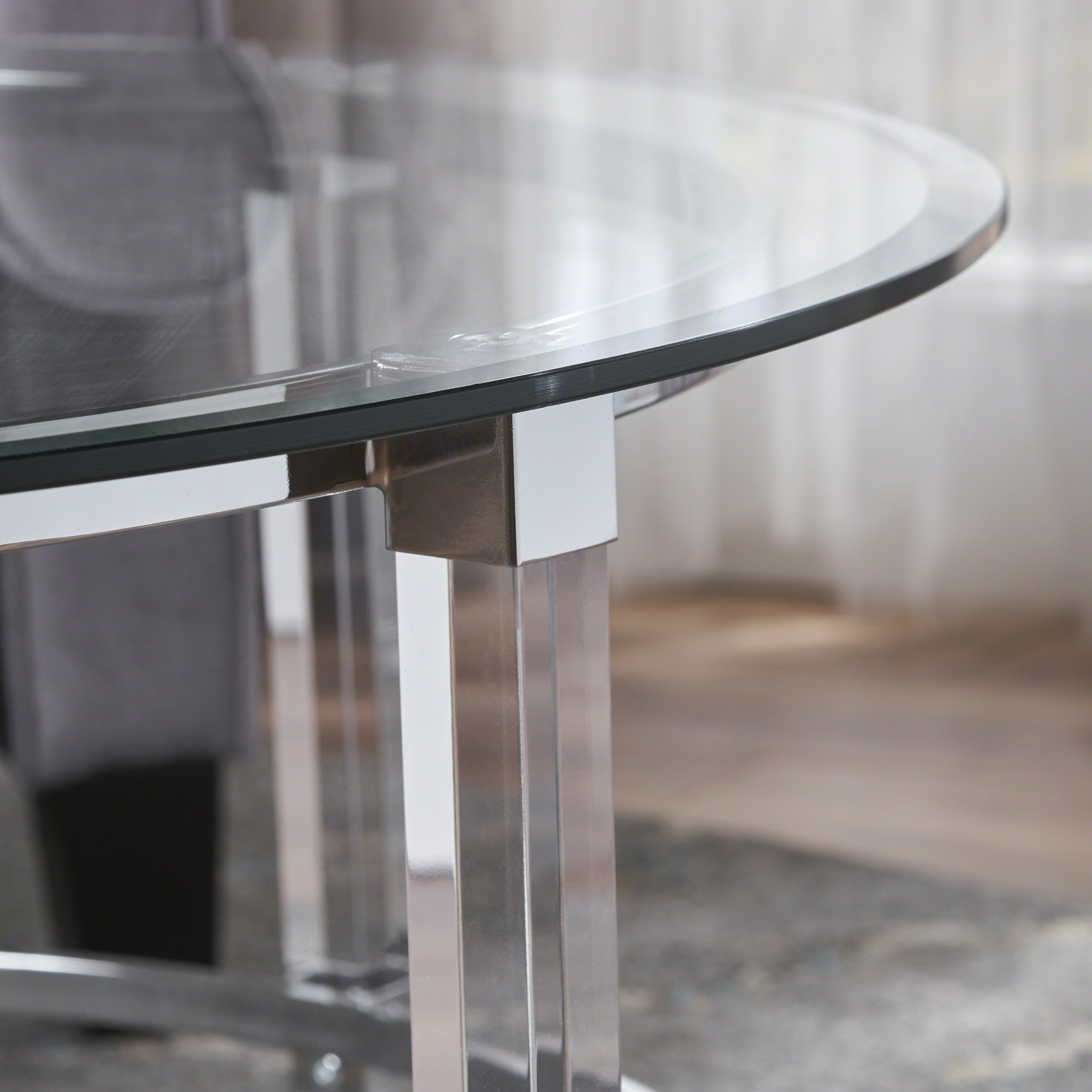 Christopher Knight Home Elowen Round Glass Coffee Table By Intended For Newest Elowen Round Glass Coffee Tables (View 5 of 20)