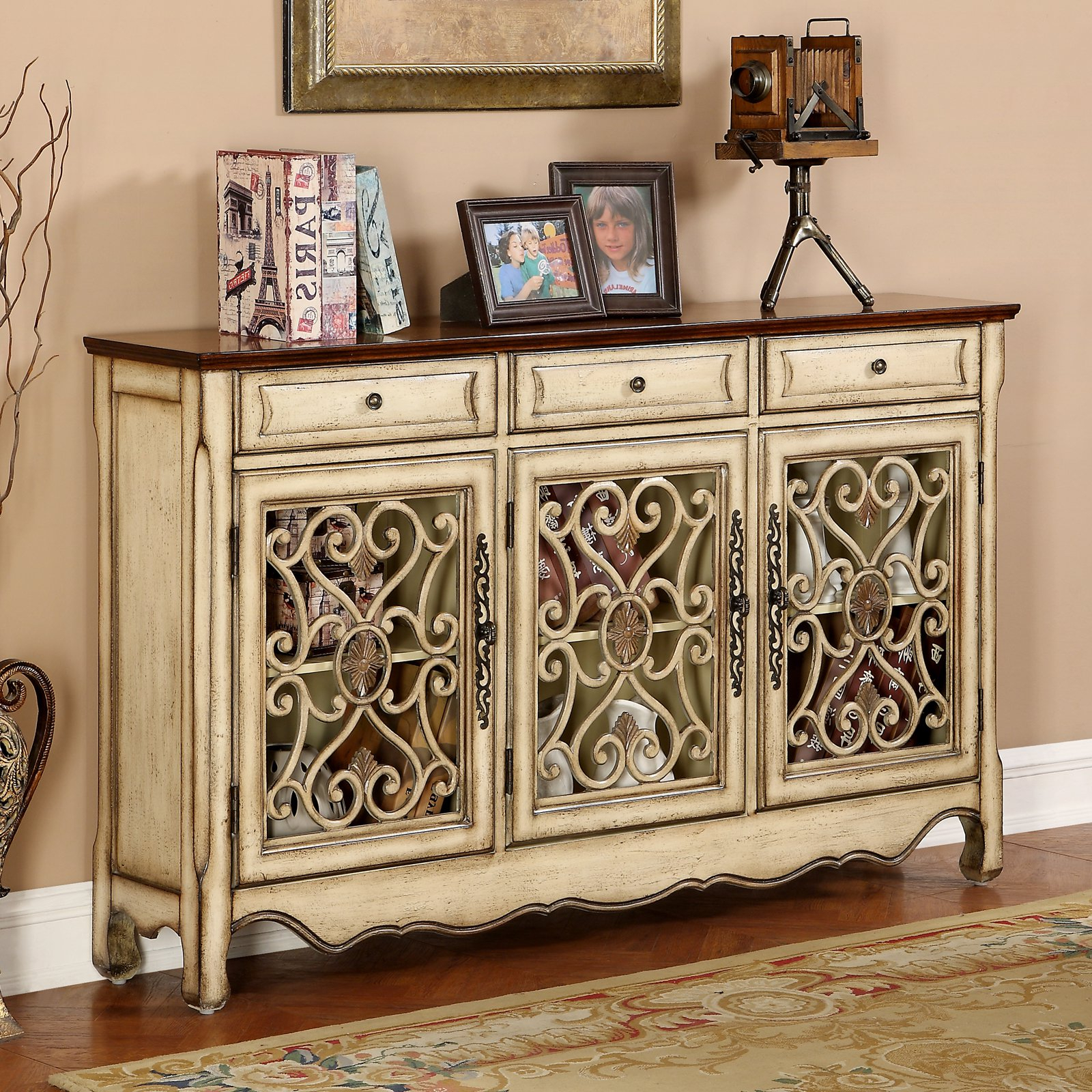 Coast To Coast 3 Drawer Credenza | Products In 2019 Within Dillen Sideboards (View 10 of 20)