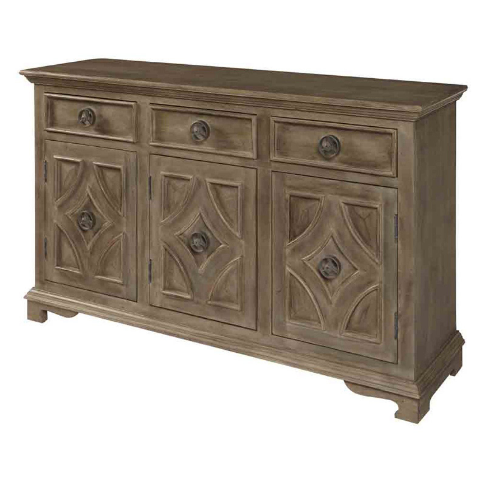 Coast To Coast Khetri Smoke Gray 3 Door Sideboard | Products With Dillen Sideboards (View 6 of 20)