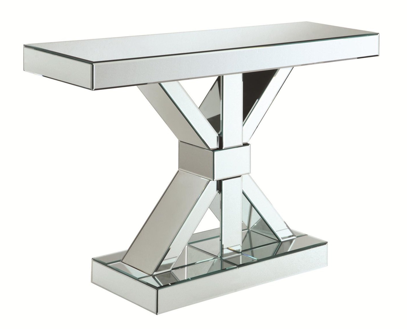 Coaster 950191 Silver Glass Console Table Steal A Sofa With Most Current Coaster Company Silver Glass Coffee Tables (View 15 of 20)