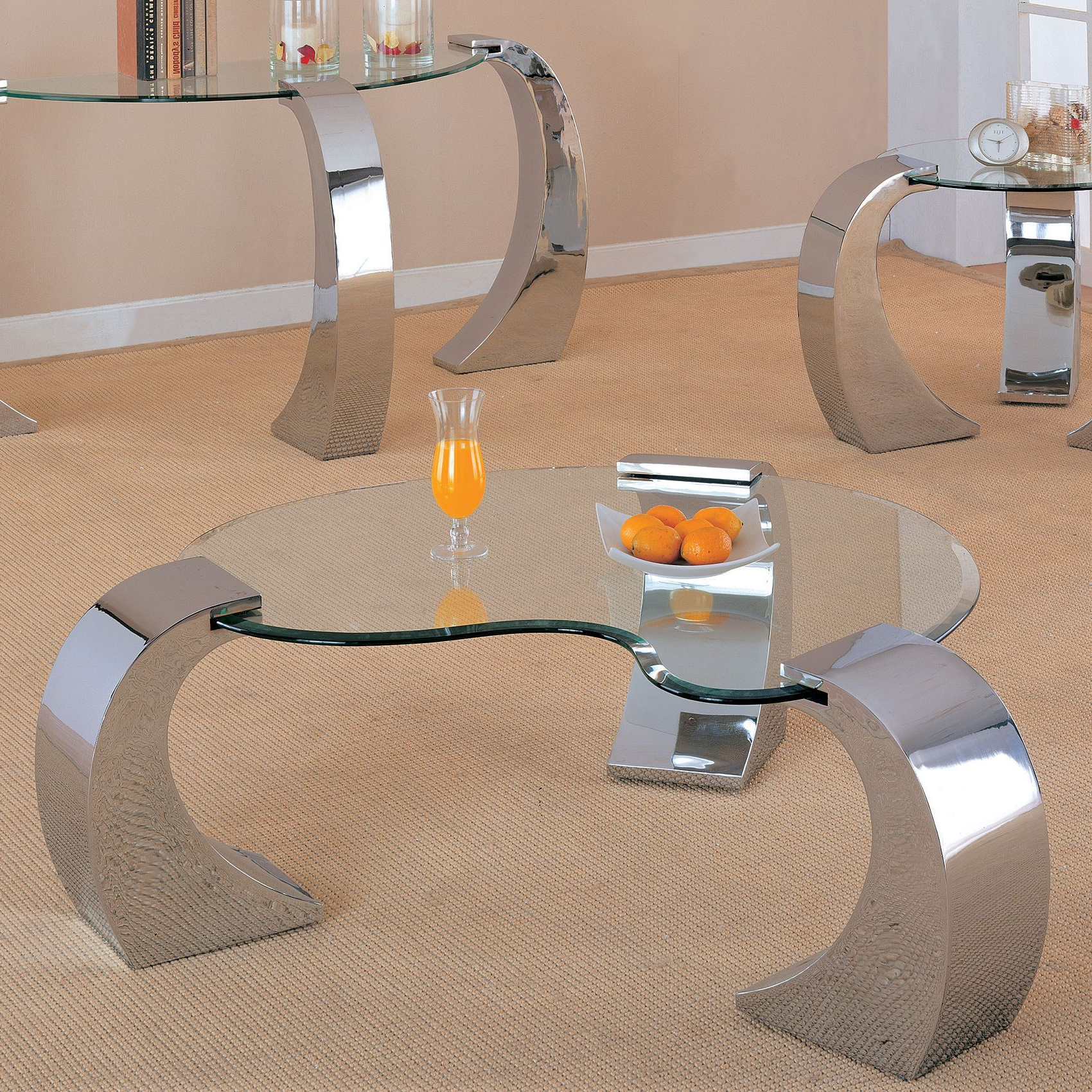 Featured Photo of Coaster Company Silver Glass Coffee Tables