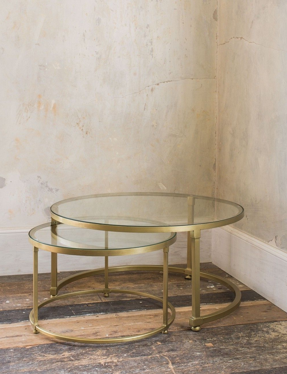 Coco Nesting Round Glass Coffee Tables (View 1 of 20)