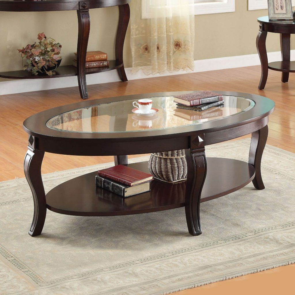 Coffe Table ~ Walnut Poly And Bark Coffee Tables Hd Wal 64 With Regard To Well Liked Furniture Of America Charlotte Weathered Oak Glass Top Coffee Tables (View 7 of 20)