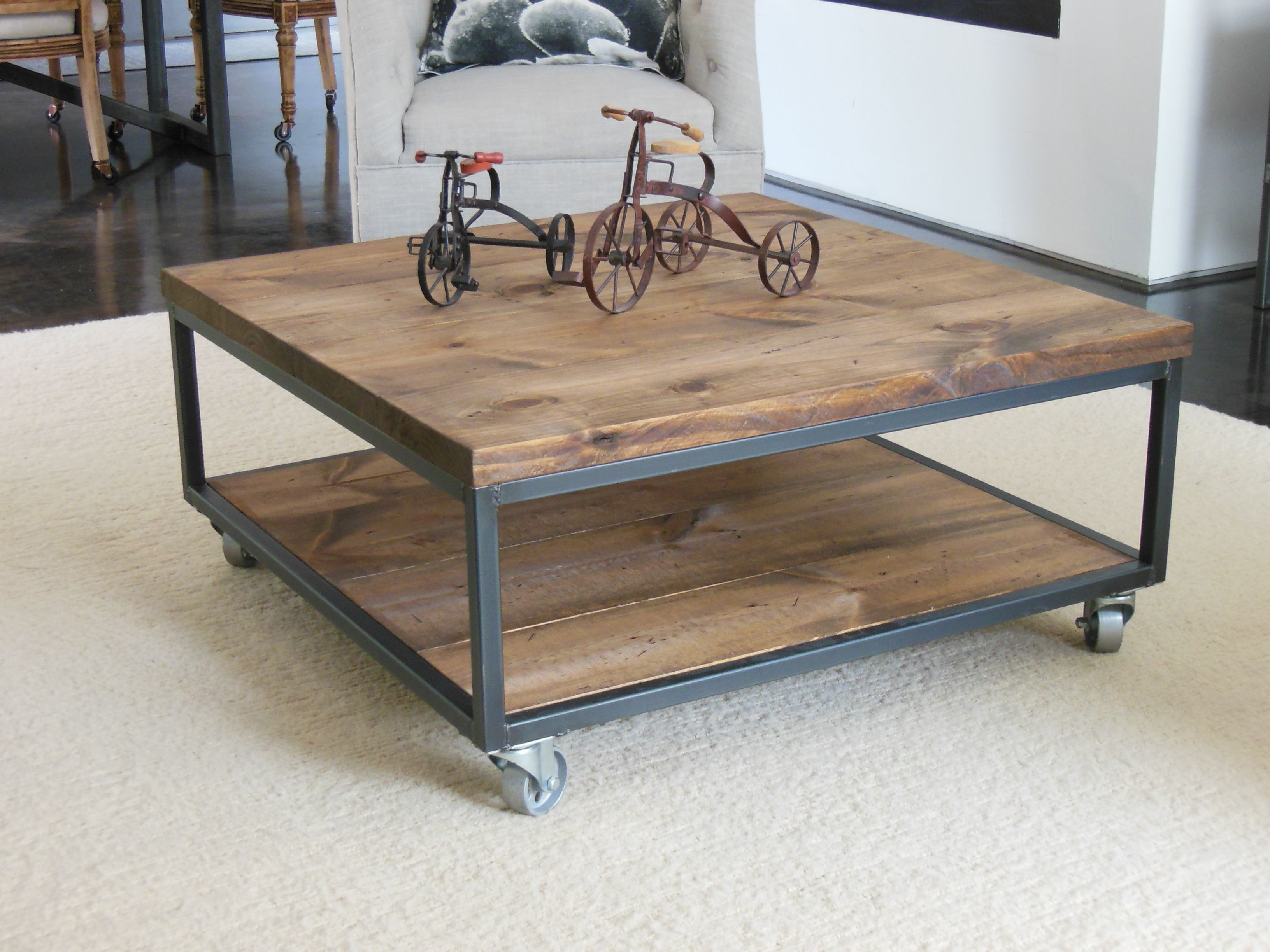 Coffee Table En 2019 Throughout Popular Sawyer Industrial Reclaimed Rectangular Cocktail Tables (View 7 of 20)