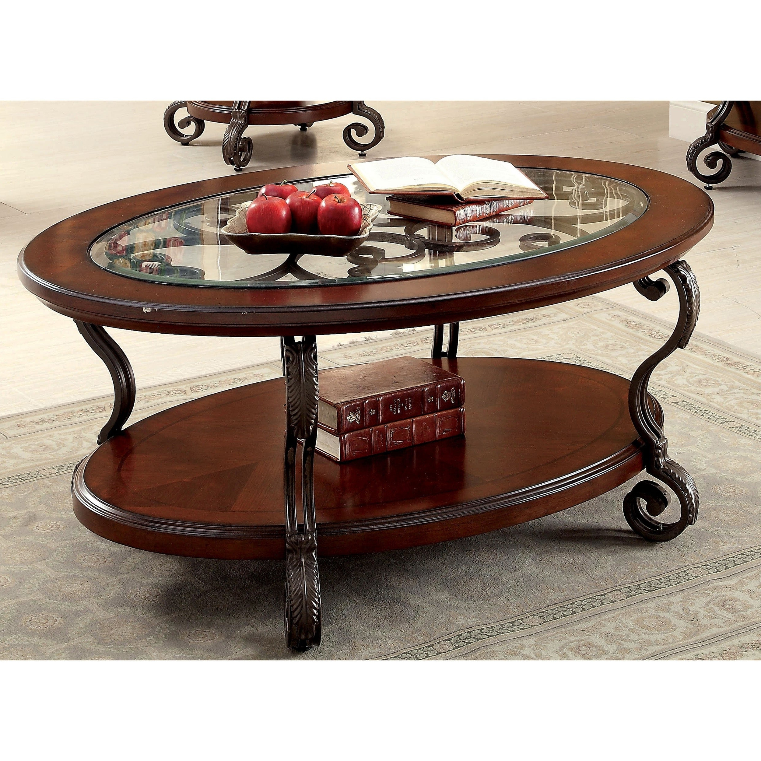 Cohler Traditional Brown Cherry Oval Coffee Tablefoa In Well Known Cohler Traditional Brown Cherry Oval Coffee Tables (View 7 of 20)