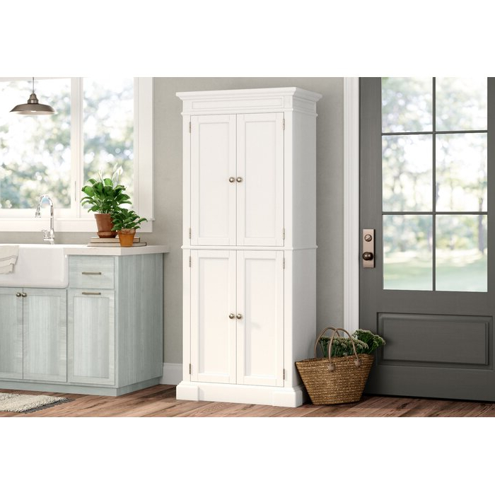 """Collette 72"""" Kitchen Pantry Throughout Well Known Hollo Kitchen Pantry (View 11 of 20)"""