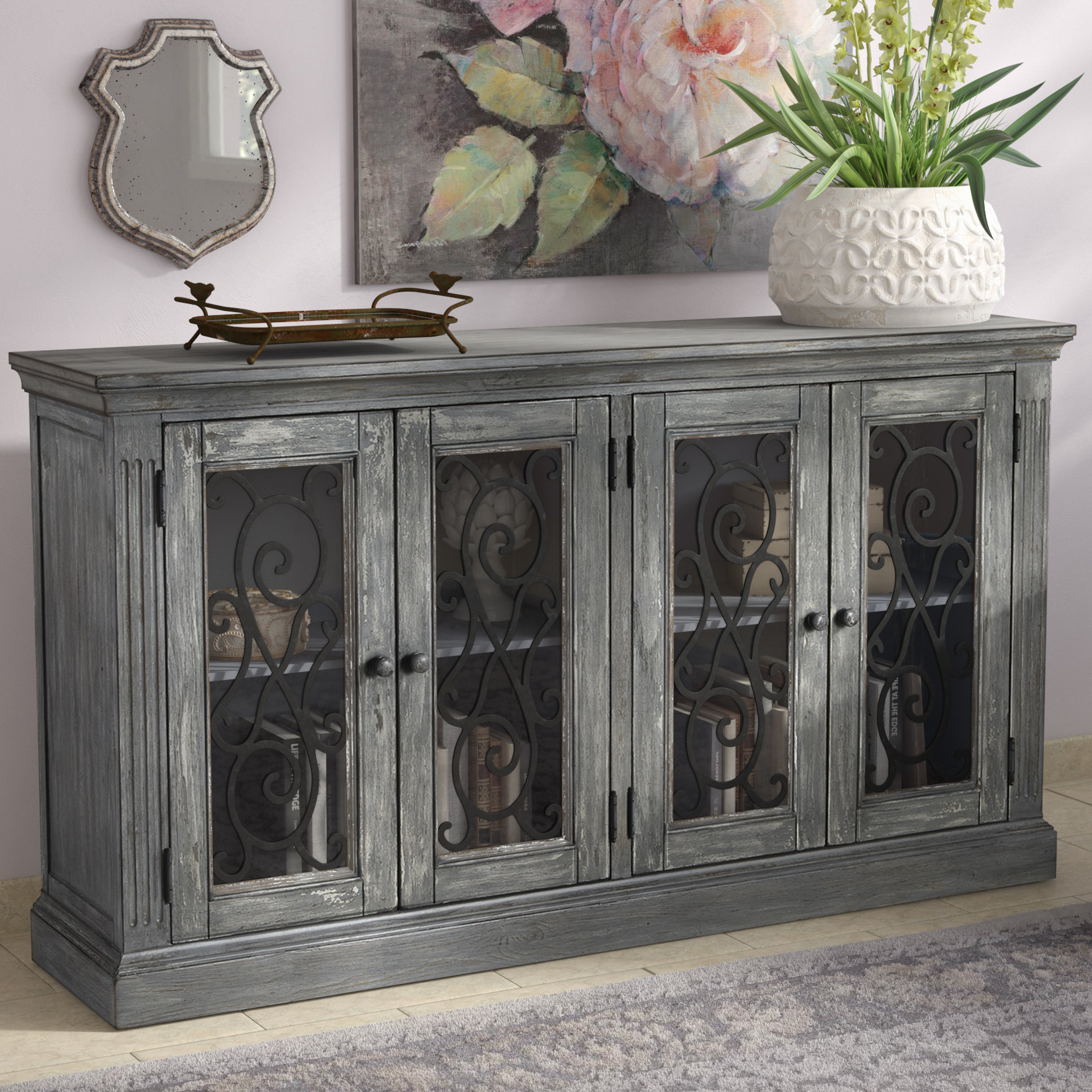 Colombier 4 Door Accent Cabinet With Kara 4 Door Accent Cabinets (View 9 of 20)