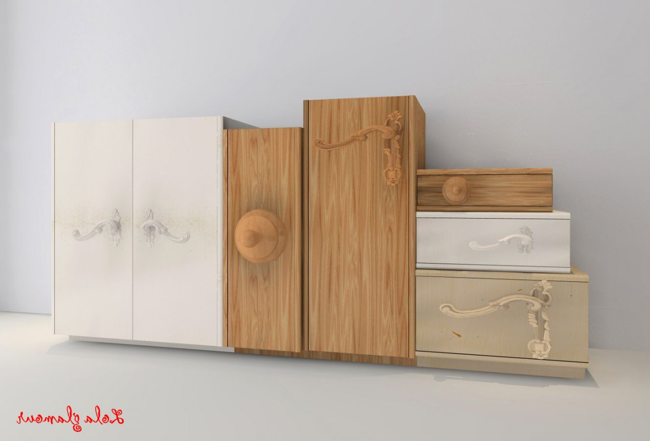 Contemporary Sideboard / Lacquered Wood / Modular / Custom Throughout Lola Sideboards (View 1 of 20)