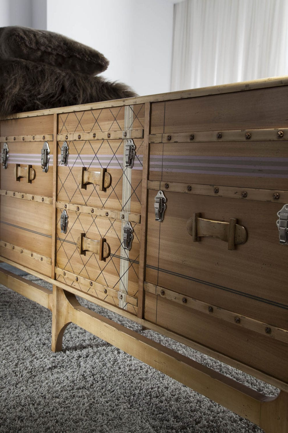 Contemporary Sideboard / Wooden / Custom – Suitcase: Ltv Pertaining To Lola Sideboards (View 4 of 20)