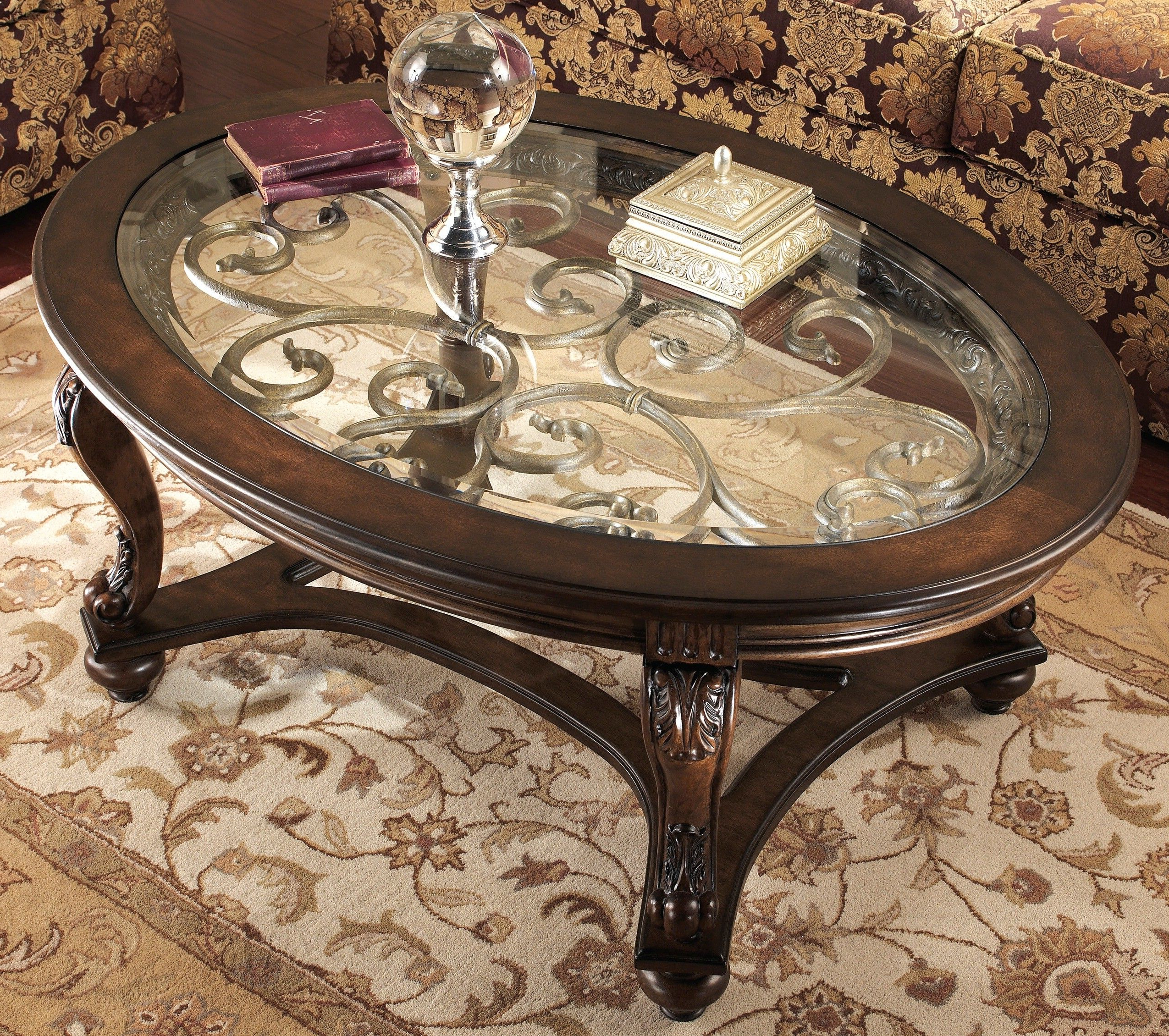 Cool Inspirational Ashley Furniture Round Coffee Table 75 In Most Recent Evalline Modern Dark Walnut Coffee Tables (View 18 of 20)