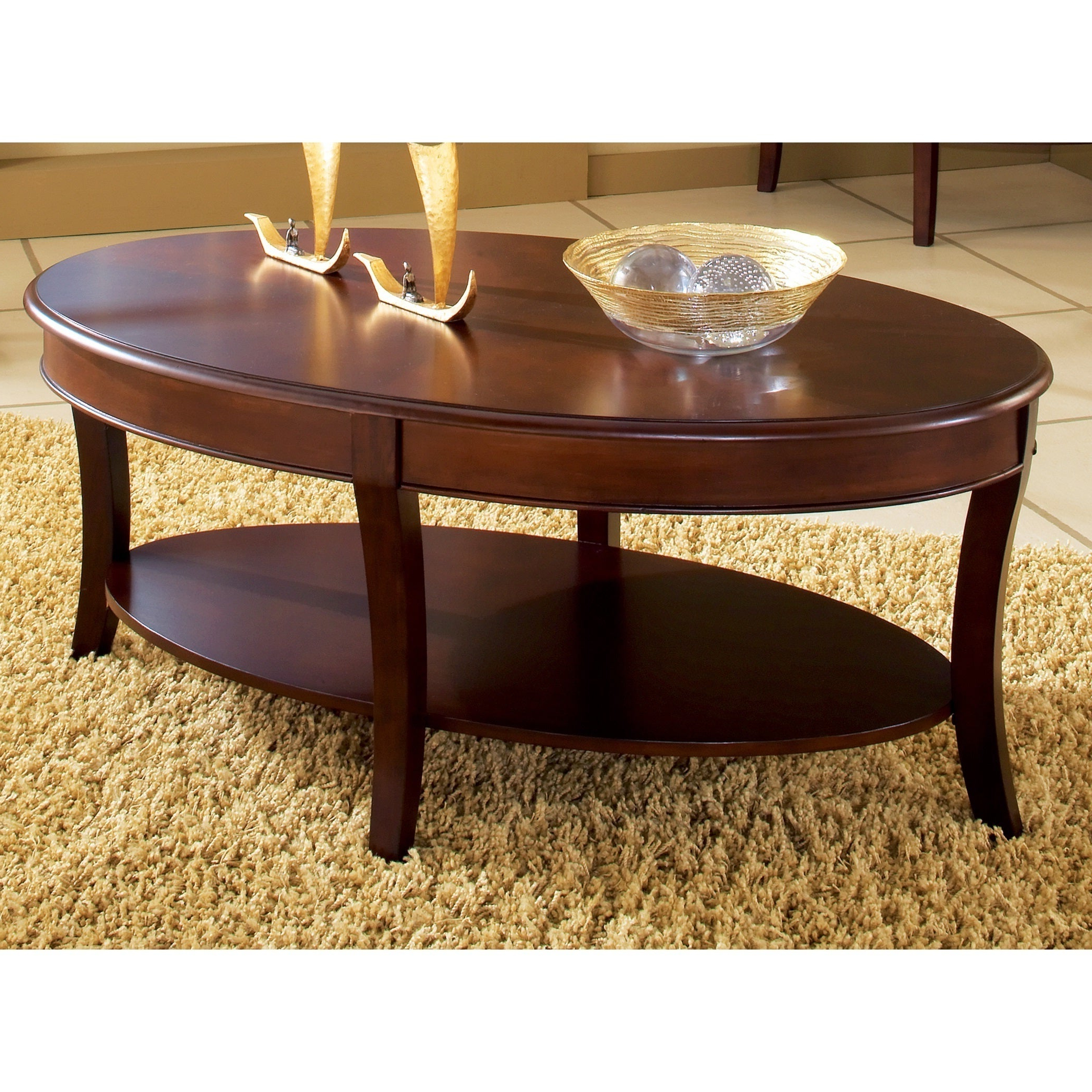 Copper Grove Angelina Oval Coffee Table Intended For 2019 Winslet Cherry Finish Wood Oval Coffee Tables With Casters (View 4 of 20)