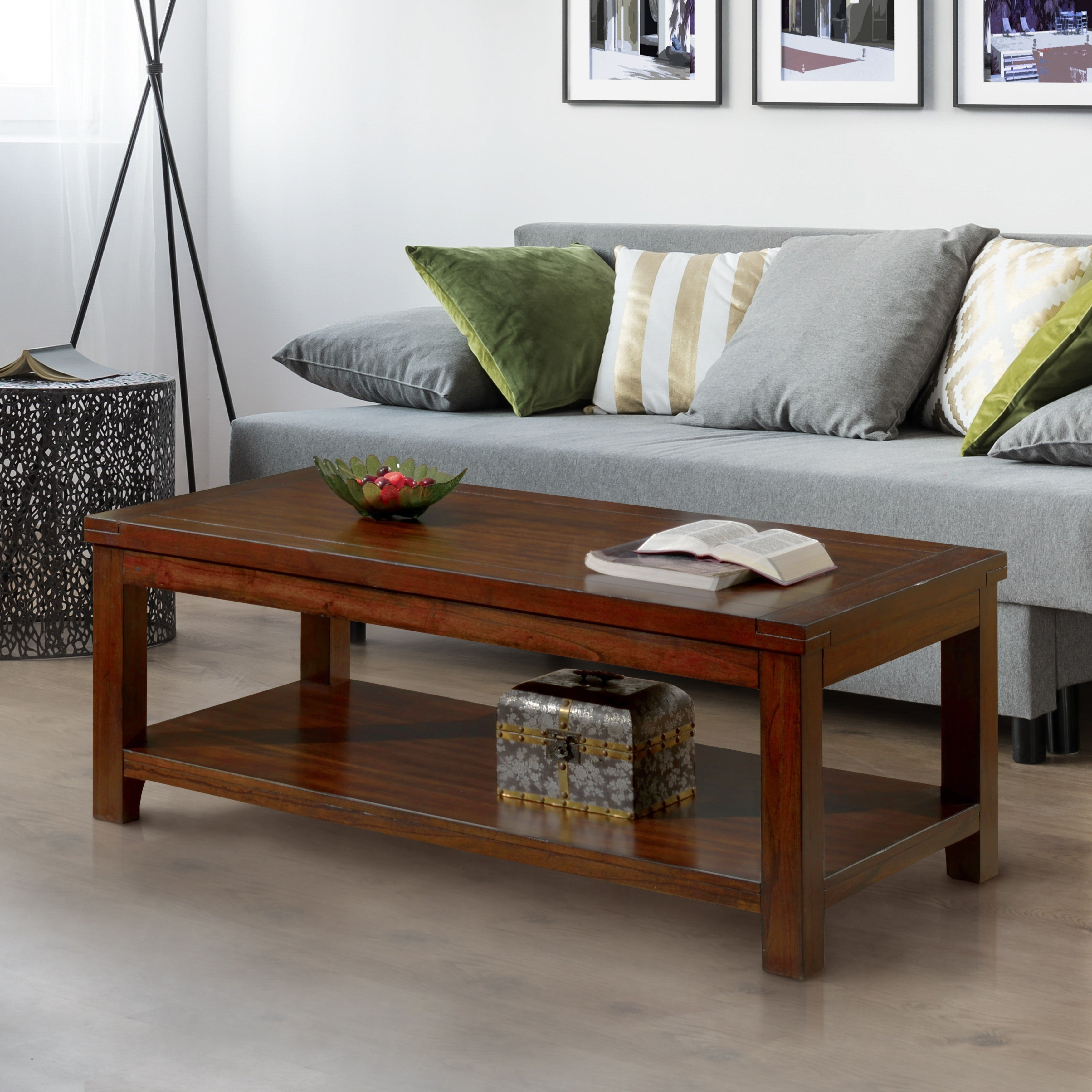 Featured Photo of Copper Grove Bowron Dark Cherry Coffee Tables