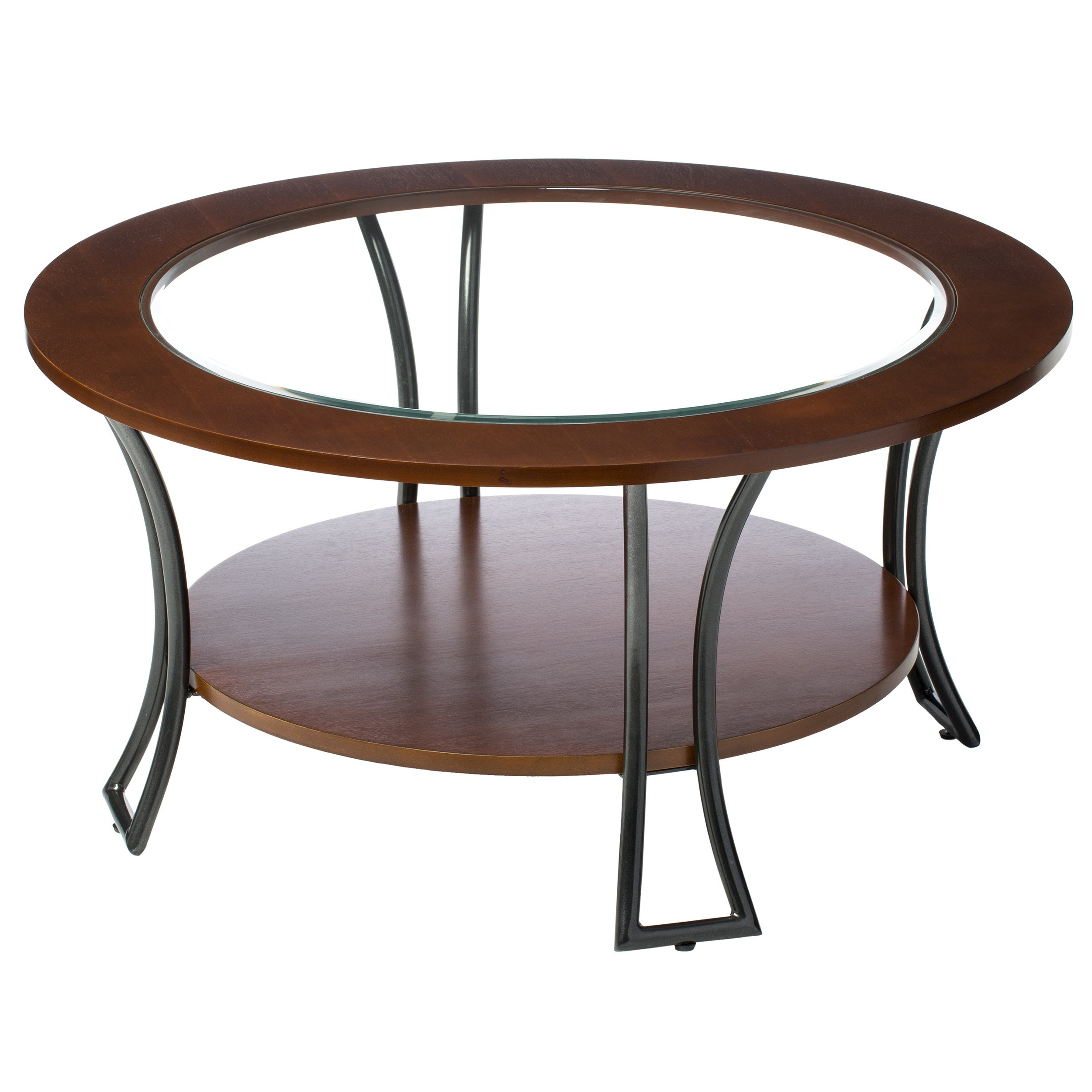 Copper Grove Carlisle Walnut/ Charcoal Grey Round Coffee Table With Regard To Popular Copper Grove Halesia Chocolate Bronze Round Coffee Tables (View 5 of 20)
