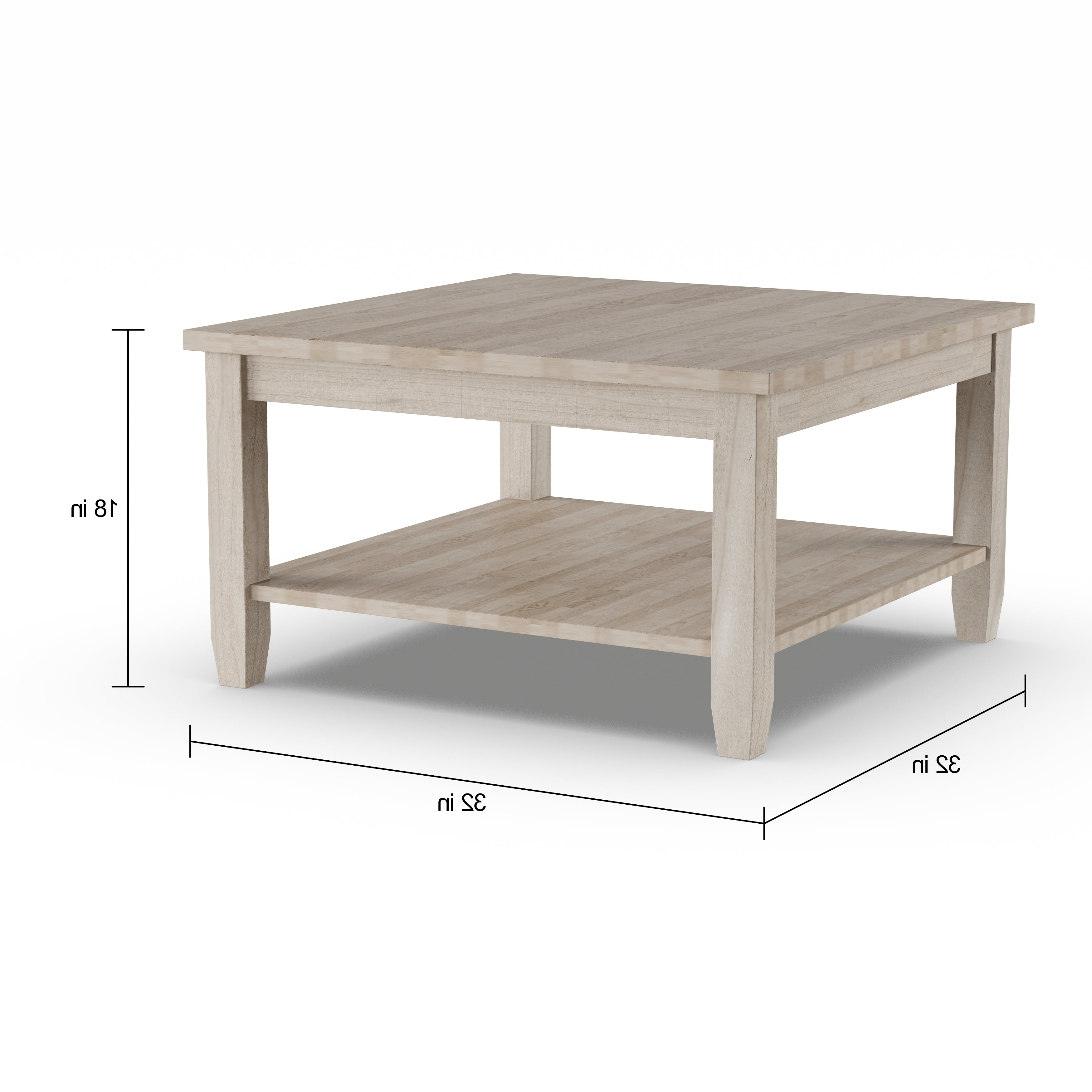 Copper Grove Chrysotome Square Unfinished Solid Parawood Coffee Table Intended For Trendy Unfinished Solid Parawood Bombay Tall Lift Top Coffee Tables (View 11 of 20)