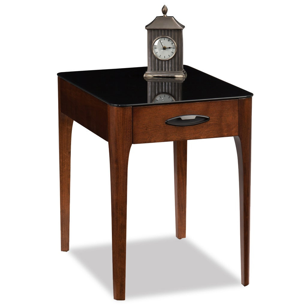 Copper Grove Hemerobsidian Black Tempered Glass Single Drawer End Table For Most Up To Date Copper Grove Obsidian Black Tempered Glass Apartment Coffee Tables (View 3 of 20)