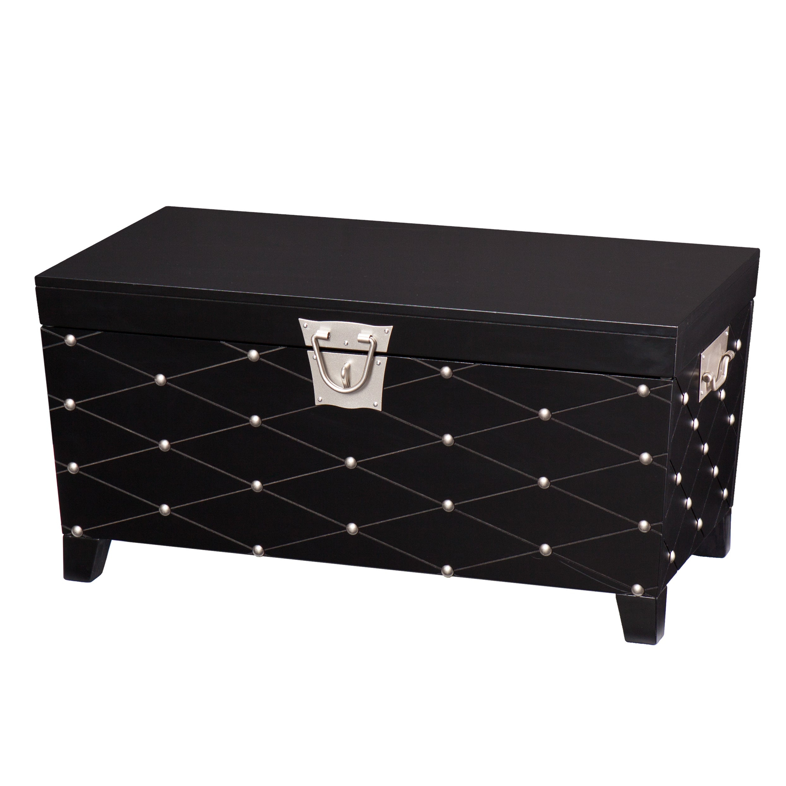 Copper Grove Liatris Black And Satin Silver Coffee/ Cocktail Table Trunk Pertaining To Fashionable Copper Grove Liatris Nailhead Espresso Cocktail Tables (View 5 of 20)
