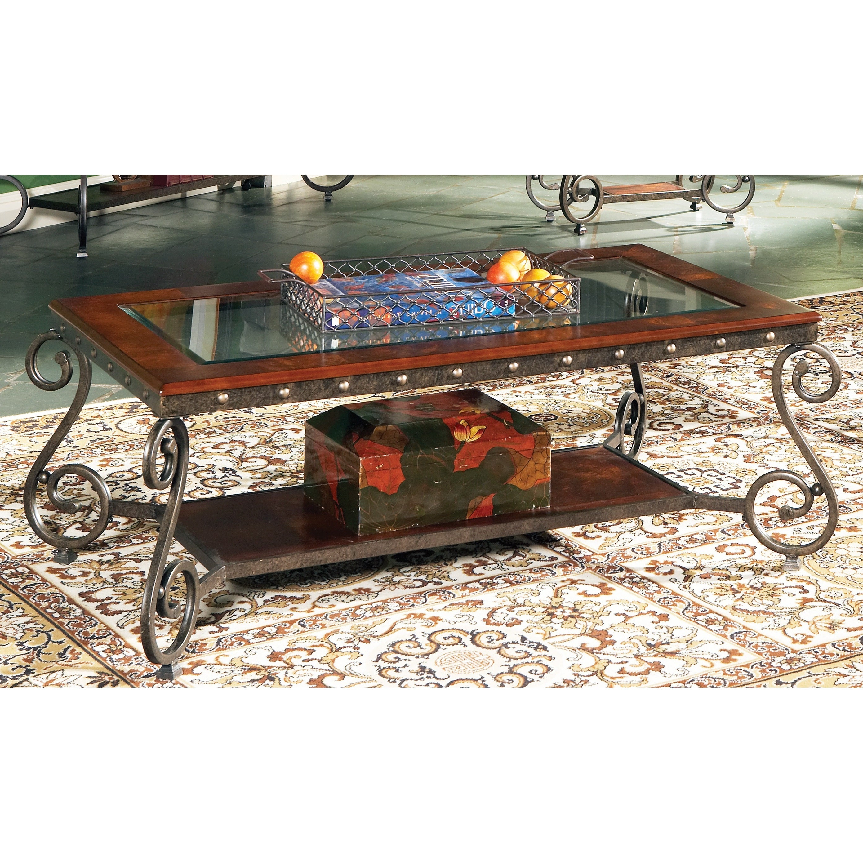 Copper Grove Swinley Elegant Glass Insert Coffee Table Intended For Most Recently Released Gracewood Hollow Salinger Prentice Cocktail Tables (View 18 of 20)