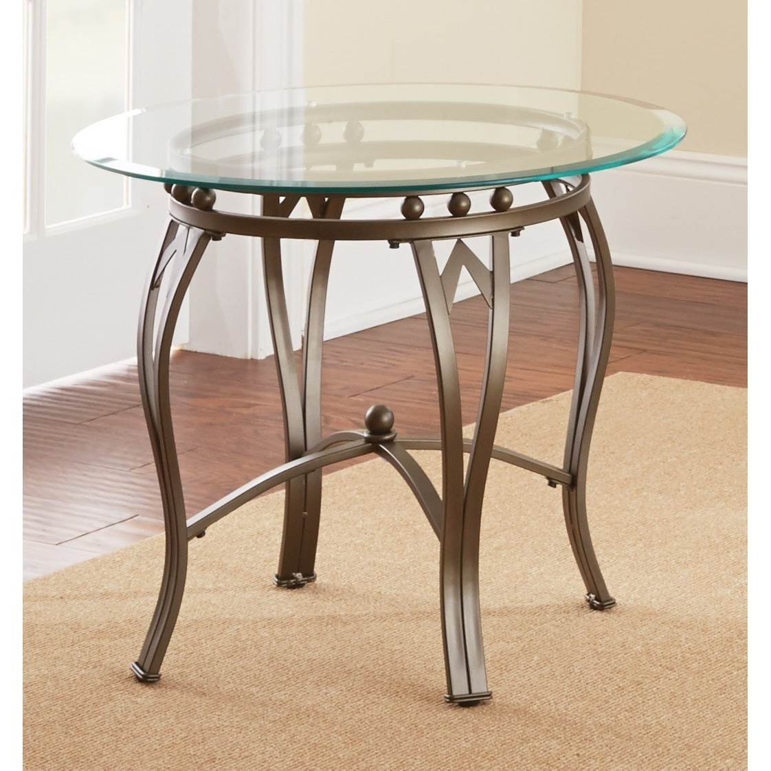 Copper Grove Woodend Glass Top Round End Table In Well Known Copper Grove Woodend Glass Top Oval Coffee Tables (View 6 of 20)