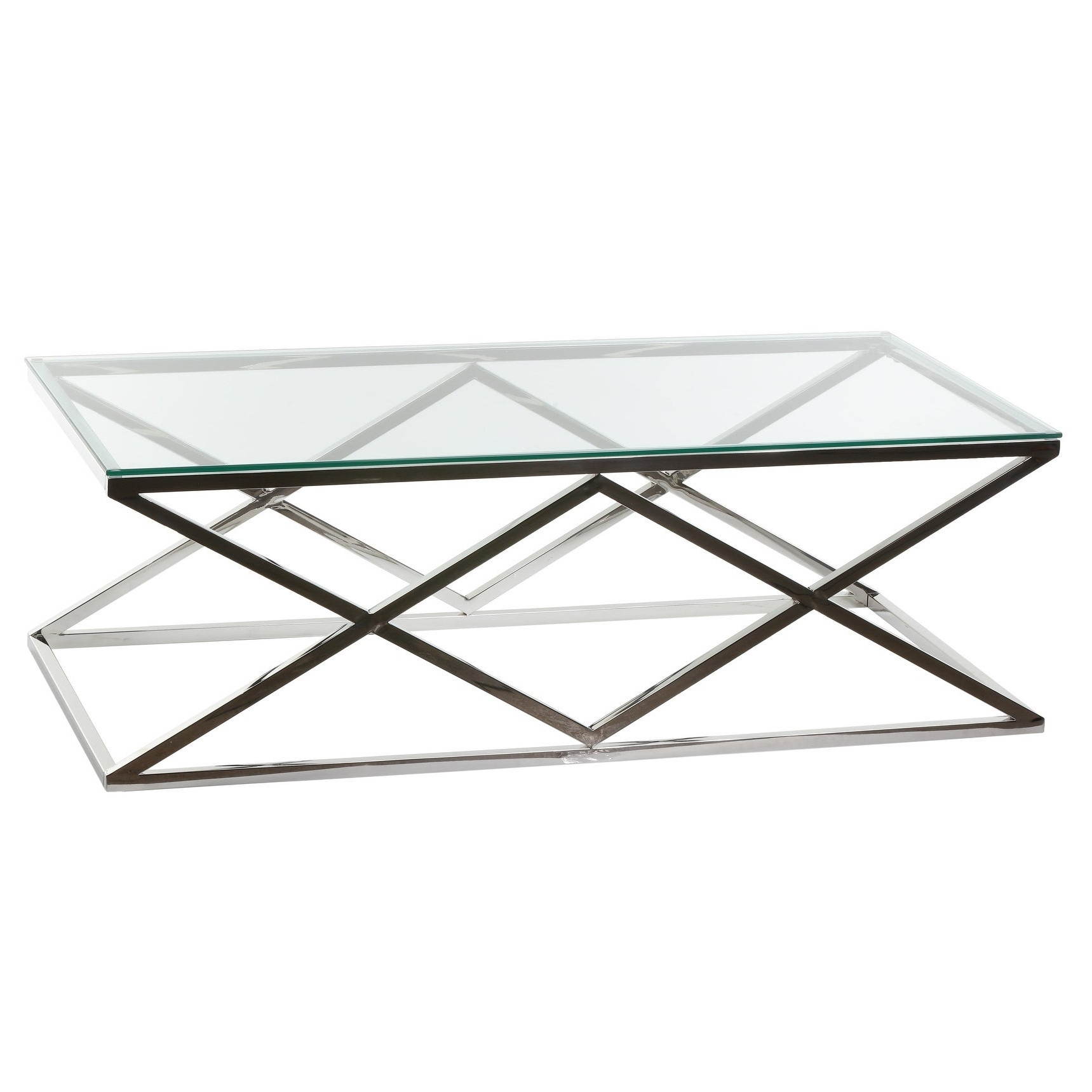 Cortesi Home Gwen Contemporary Glass Coffee Table Pertaining To Current Cortesi Home Remi Contemporary Chrome Glass Coffee Tables (View 4 of 20)