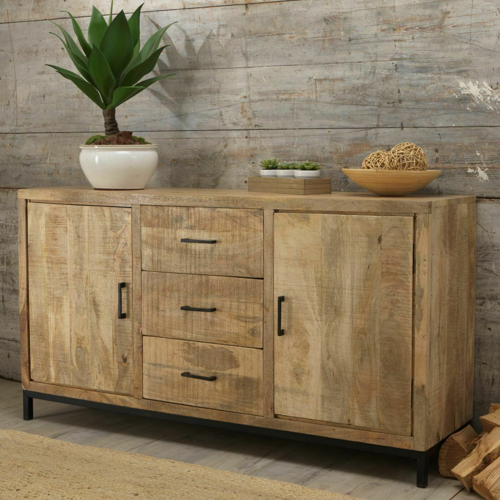 Cove Reclaimed Wood Dining Living Room Furniture Large Sideboard For Clifton Sideboards (View 8 of 20)