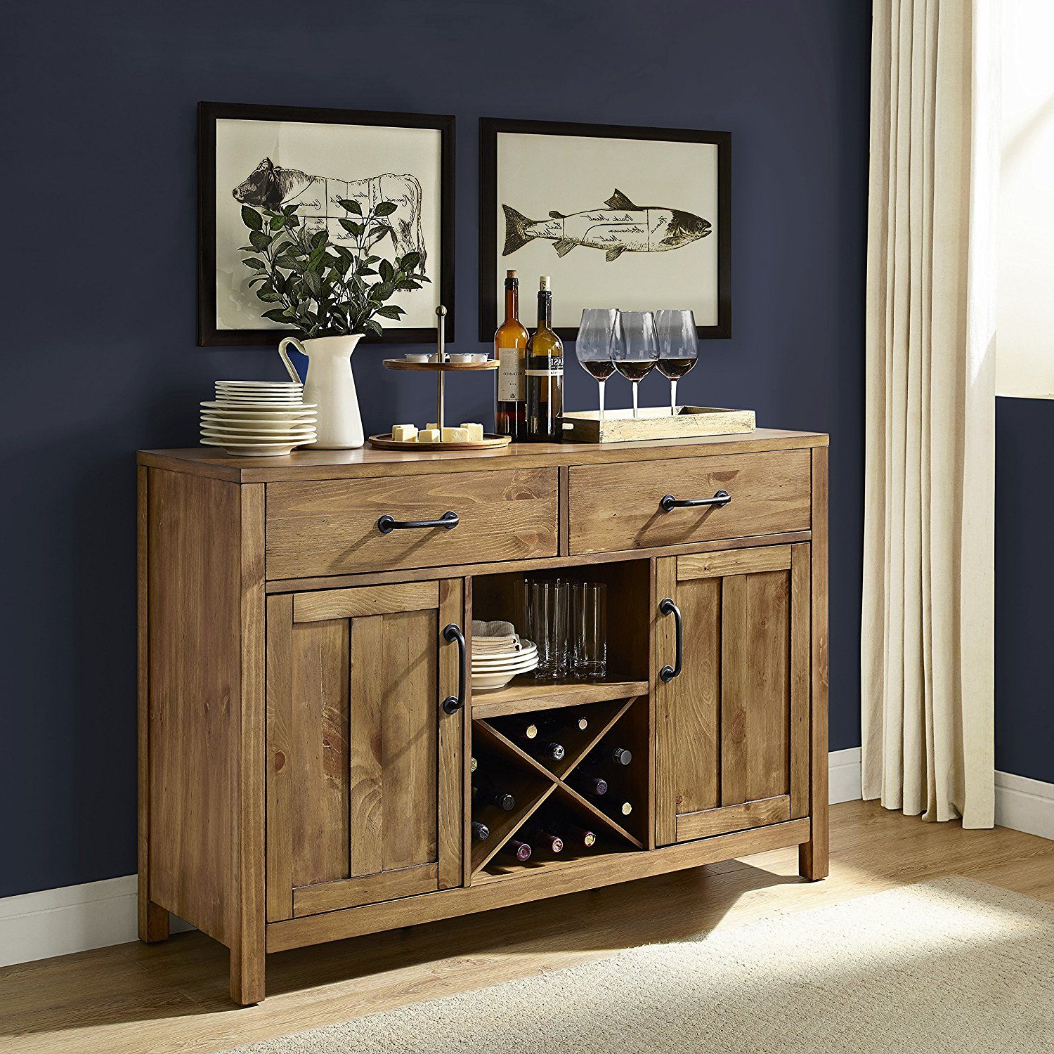 Crosley Furniture Roots Buffet Dining Room Storage – Natural Intended For Alegre Sideboards (View 11 of 20)