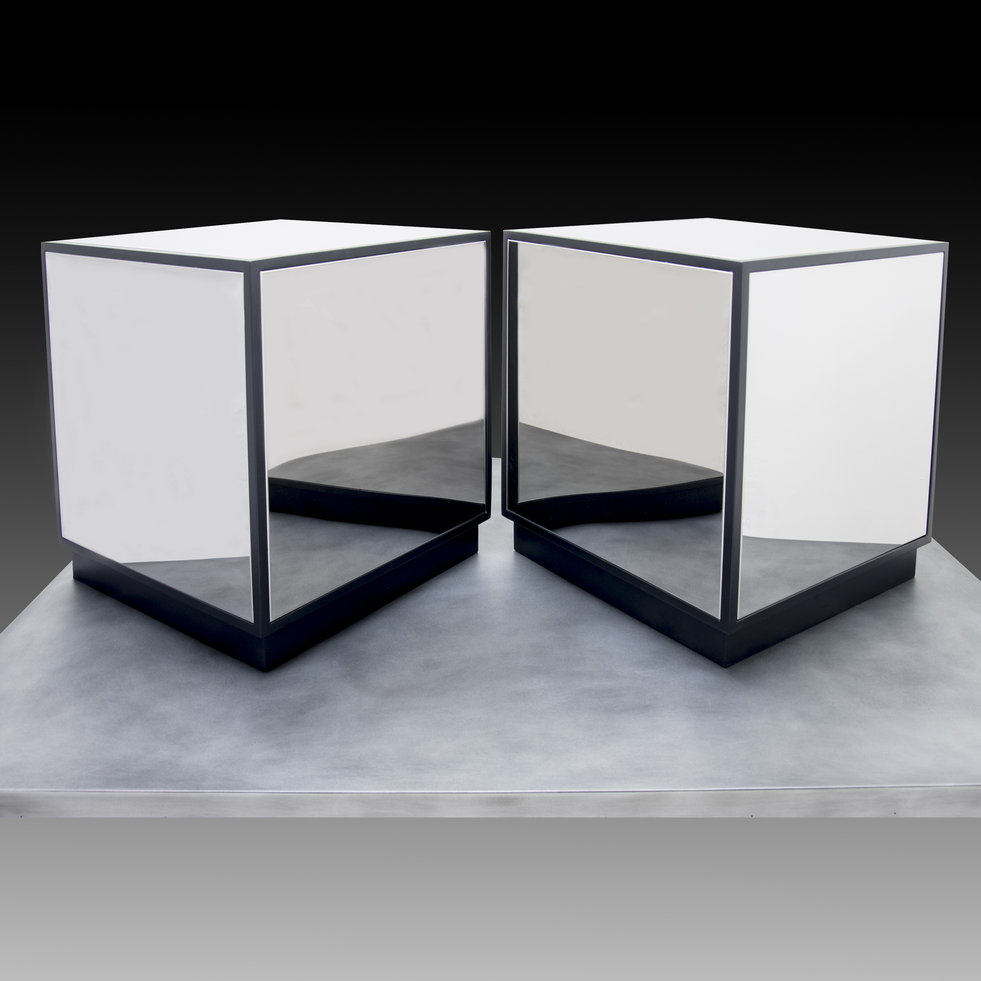 Cube Coffee Table, Polished Stainless Nuevo Living Furniture With Regard To Well Known Carbon Loft Kenyon Natural Rustic Coffee Tables (View 19 of 20)