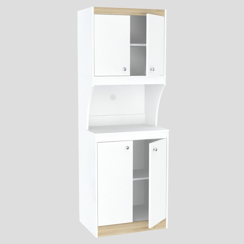 Current Amaia 3 Piece Kitchen Pantry With Regard To Amaia 3 Piece Kitchen Pantry (View 9 of 20)