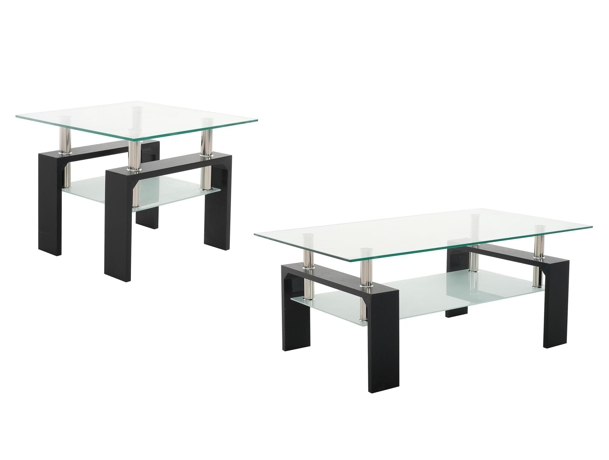 Current Contemporary Chrome Glass Top And Mirror Shelf Coffee Tables Regarding Coffee Table Top & Shelf (View 5 of 20)