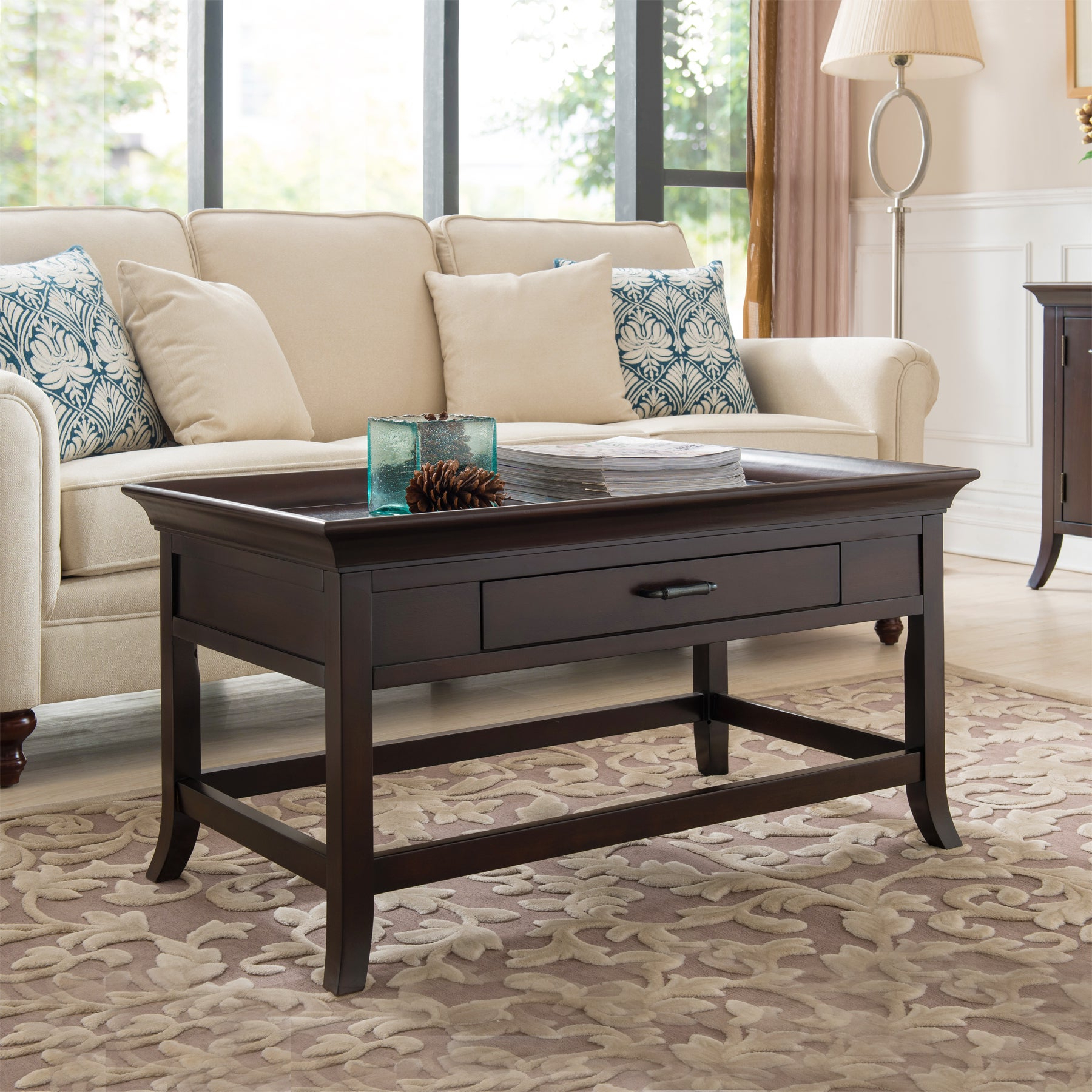 Current Copper Grove Bowron Dark Cherry Coffee Tables Regarding Copper Grove Dillberry Solid Wood Cherry Coffee Table (View 11 of 20)