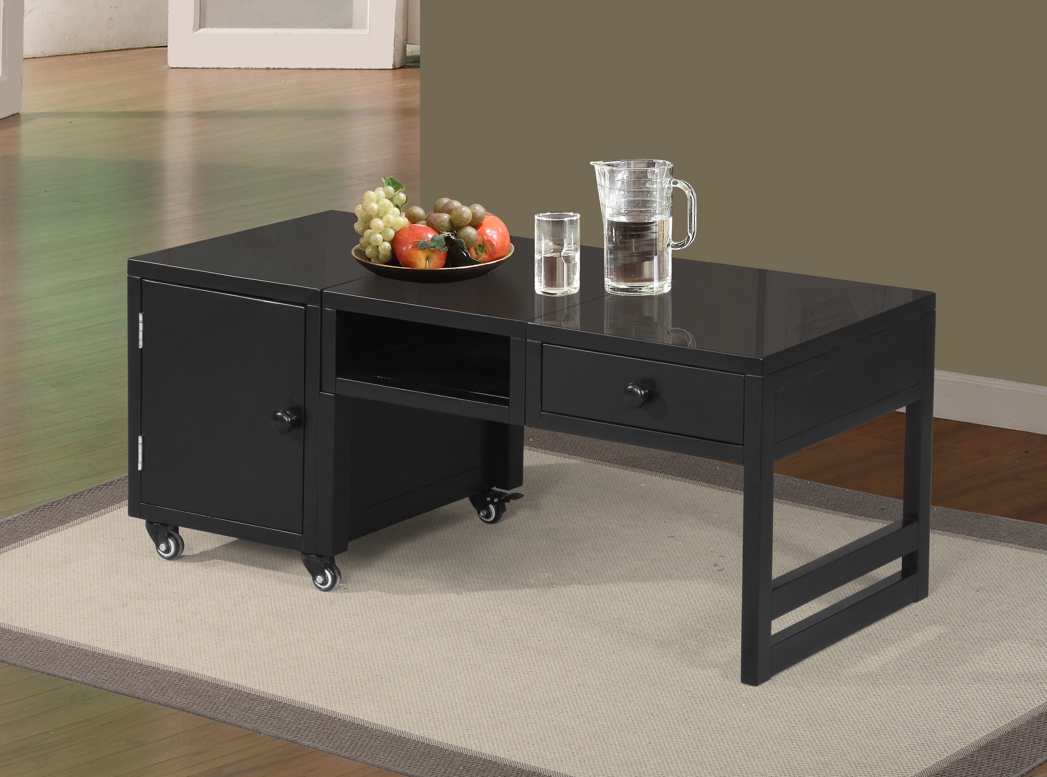 Current Cosbin Rustic Bold Antique Black Coffee Tables In Tanya Coffee Table With Storage (View 8 of 20)