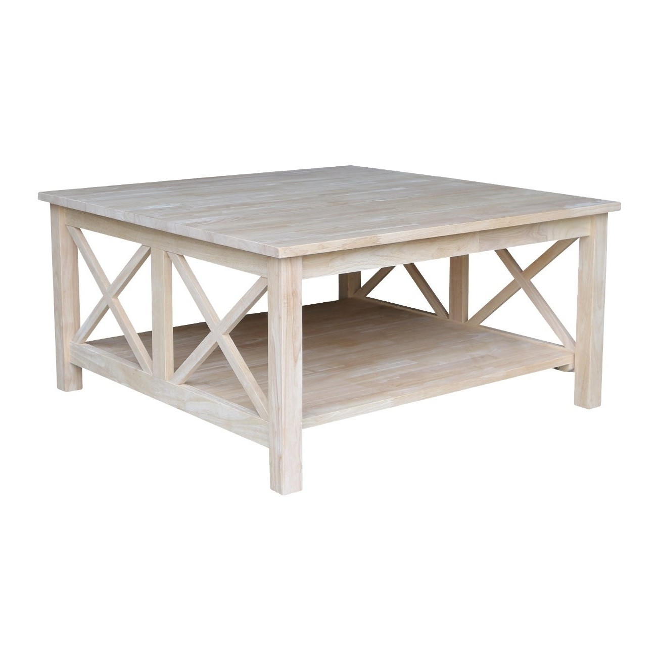 Featured Photo of 'hampton' Unfinished Solid Parawood Square Coffee Tables