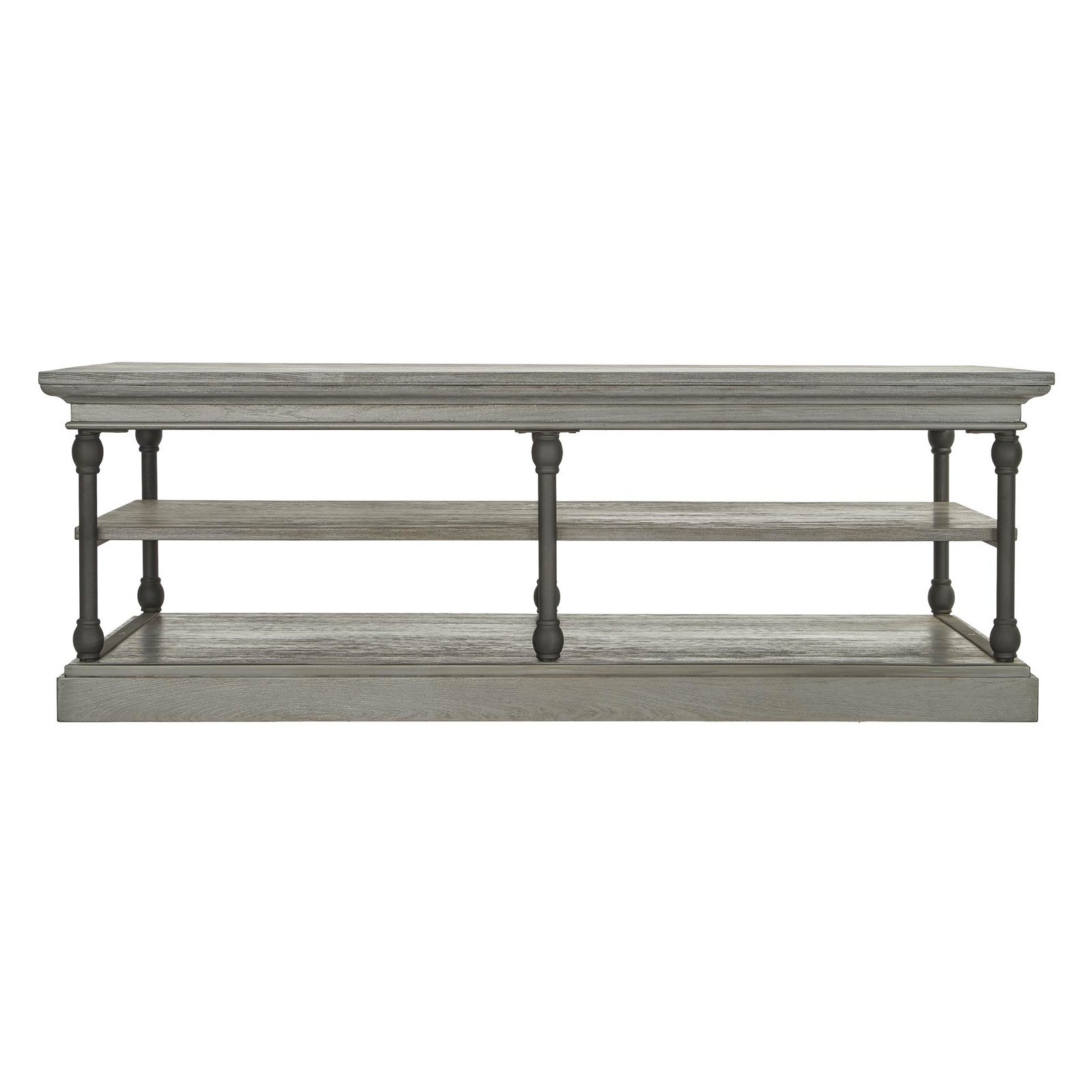 Current Jessa Rustic Country 54 Inch Coffee Tables With Weston Home Rectangle 2 Shelf Coffee Table In (View 20 of 20)