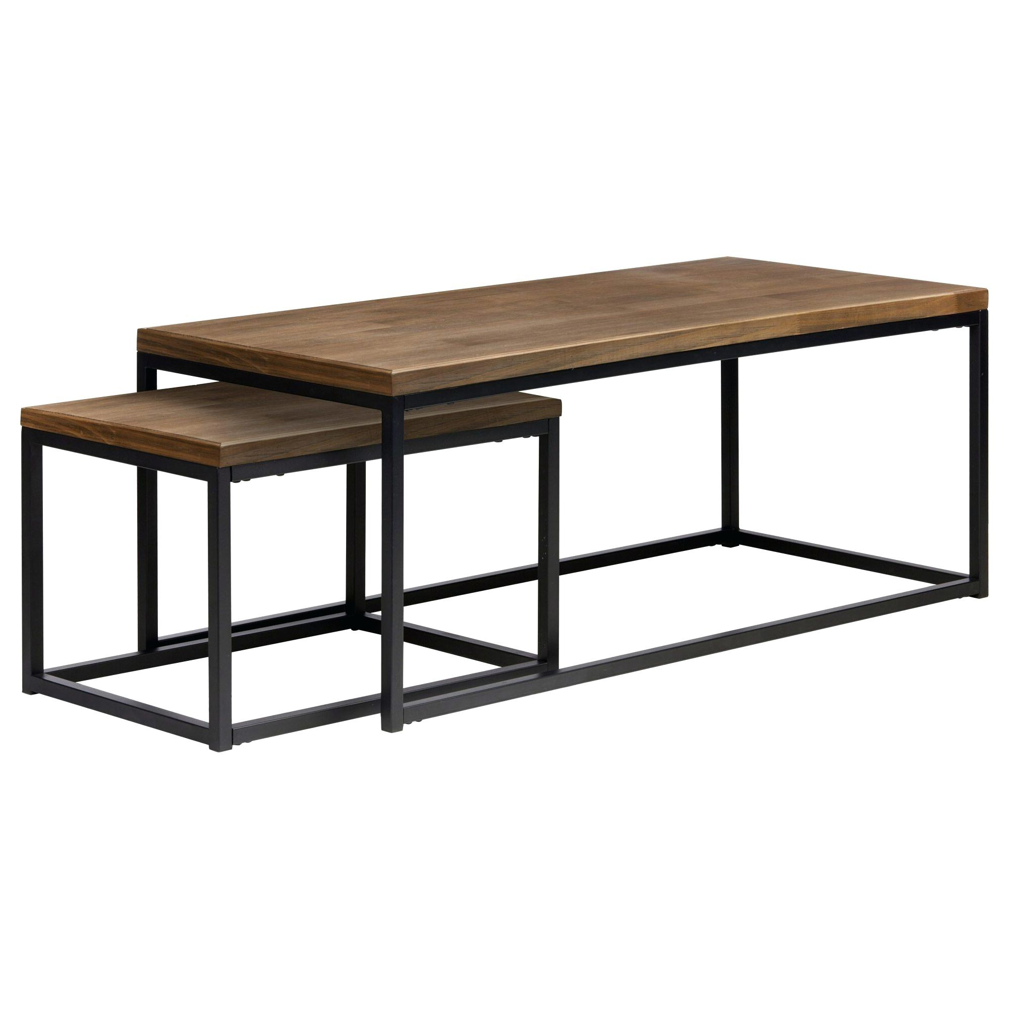 Current Mitera Round Metal Glass Nesting Coffee Tables Regarding Metal Coffee Table Sets – Shothouse (View 2 of 20)