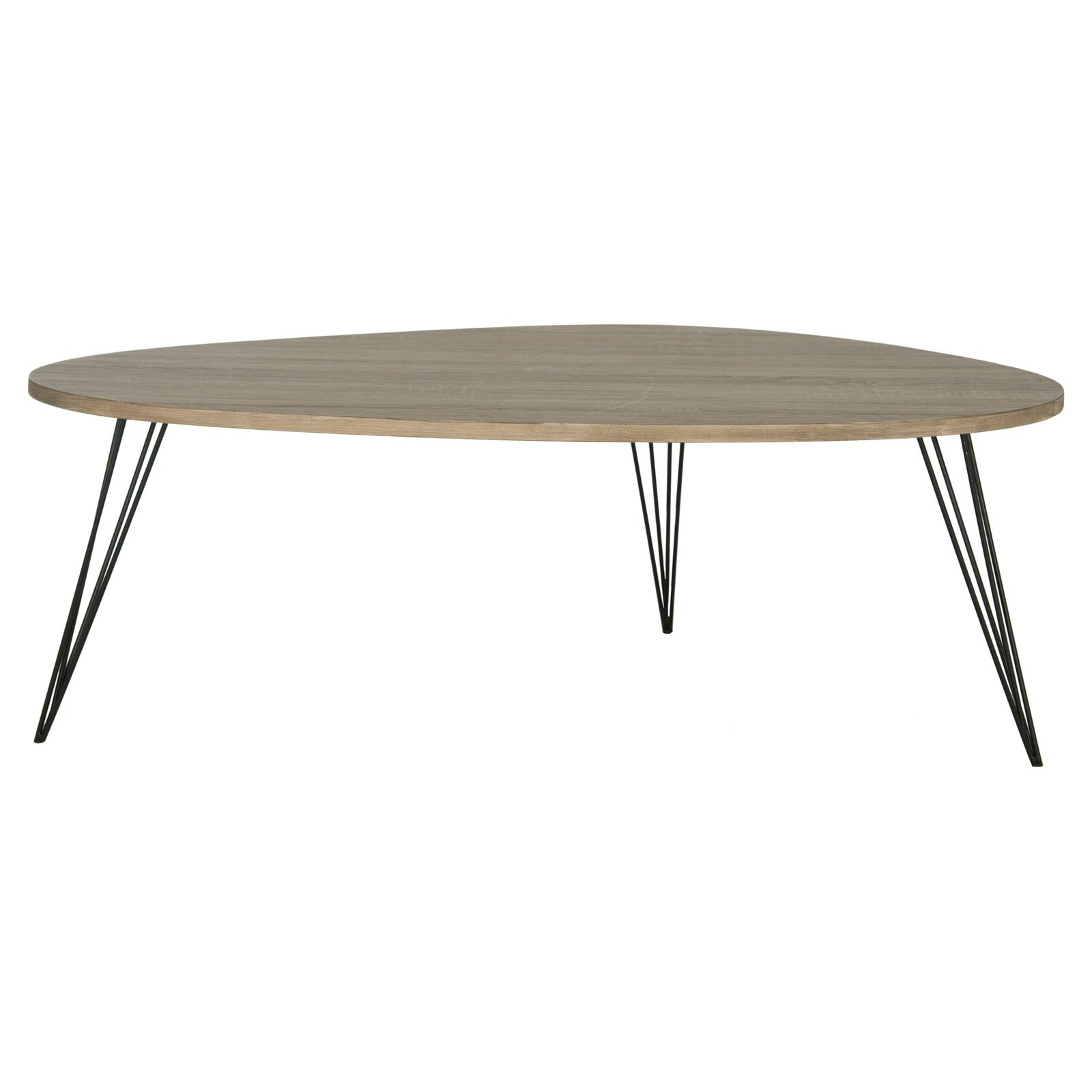 """Current Safavieh Mid Century Wynton White Black Lacquer Modern Coffee Tables Regarding Safavieh Wynton 44"""" Width Retro Mid Century Lacquer Coffee Table, Multiple Colors (View 7 of 20)"""