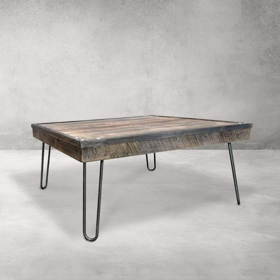 Current Sawyer Industrial Reclaimed Rectangular Cocktail Tables Intended For Coffee Tables Industrial (View 12 of 20)