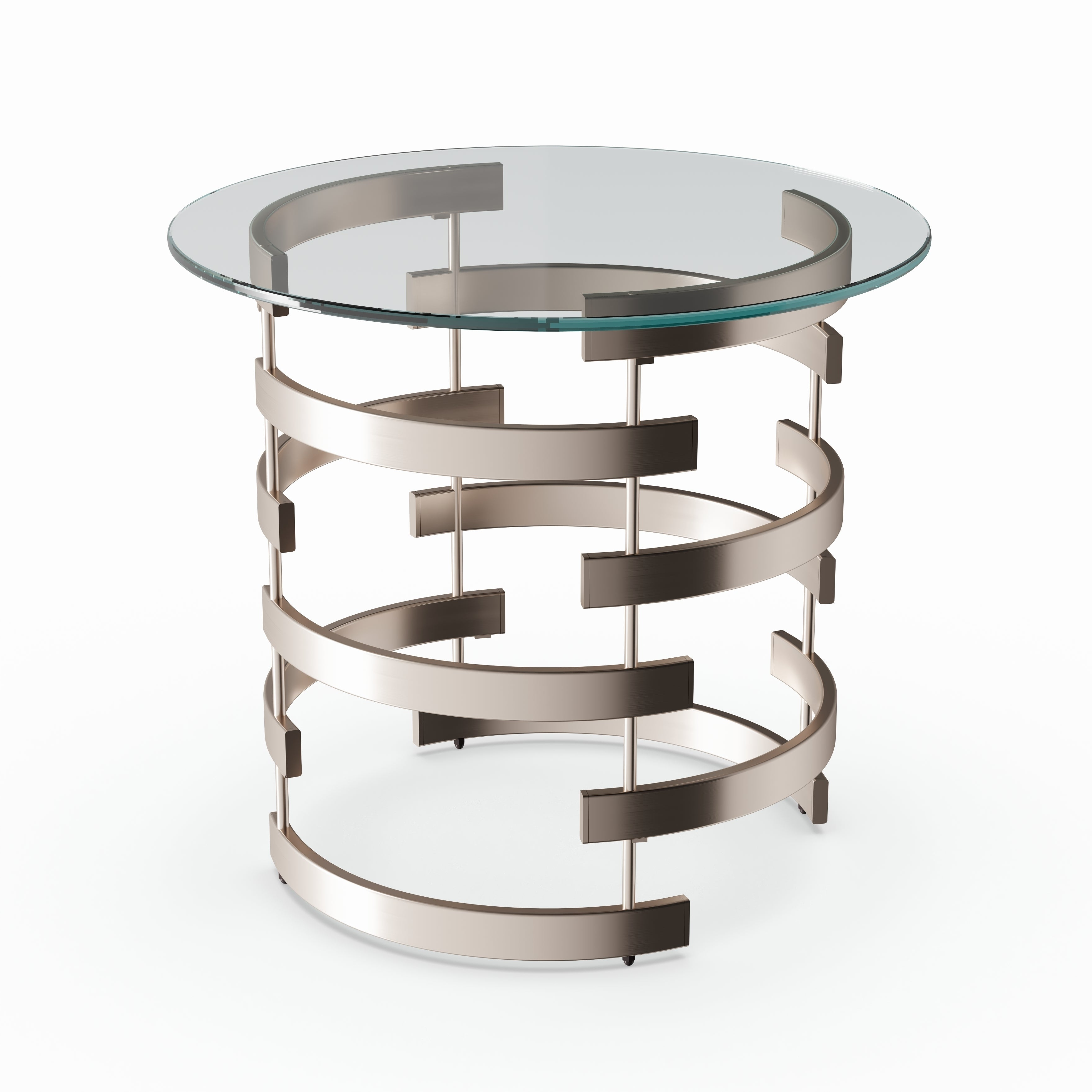 Current Silver Orchid Bardeen Round Coffee Tables With Silver Orchid Grant Side/ End Table (View 14 of 20)