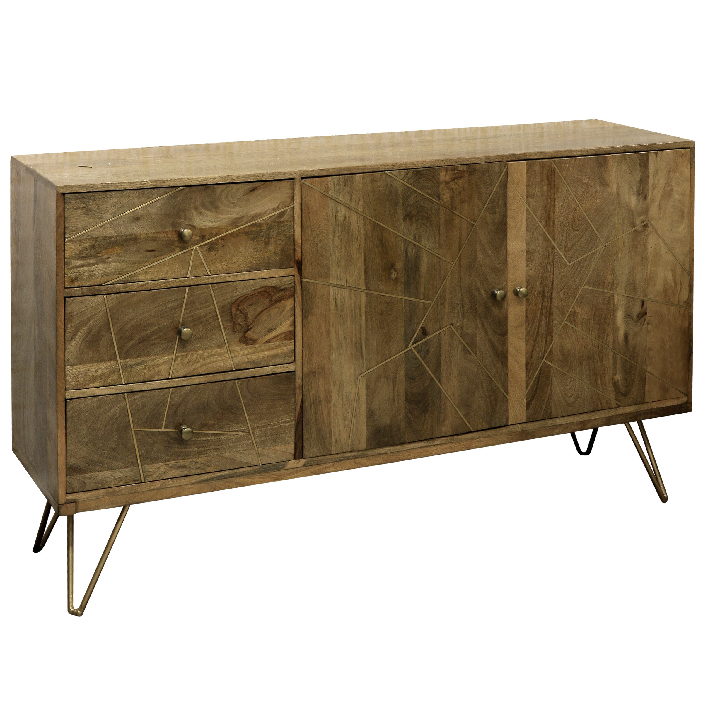 Damarion 3 Drawer Credenza For Lainey Credenzas (View 5 of 20)