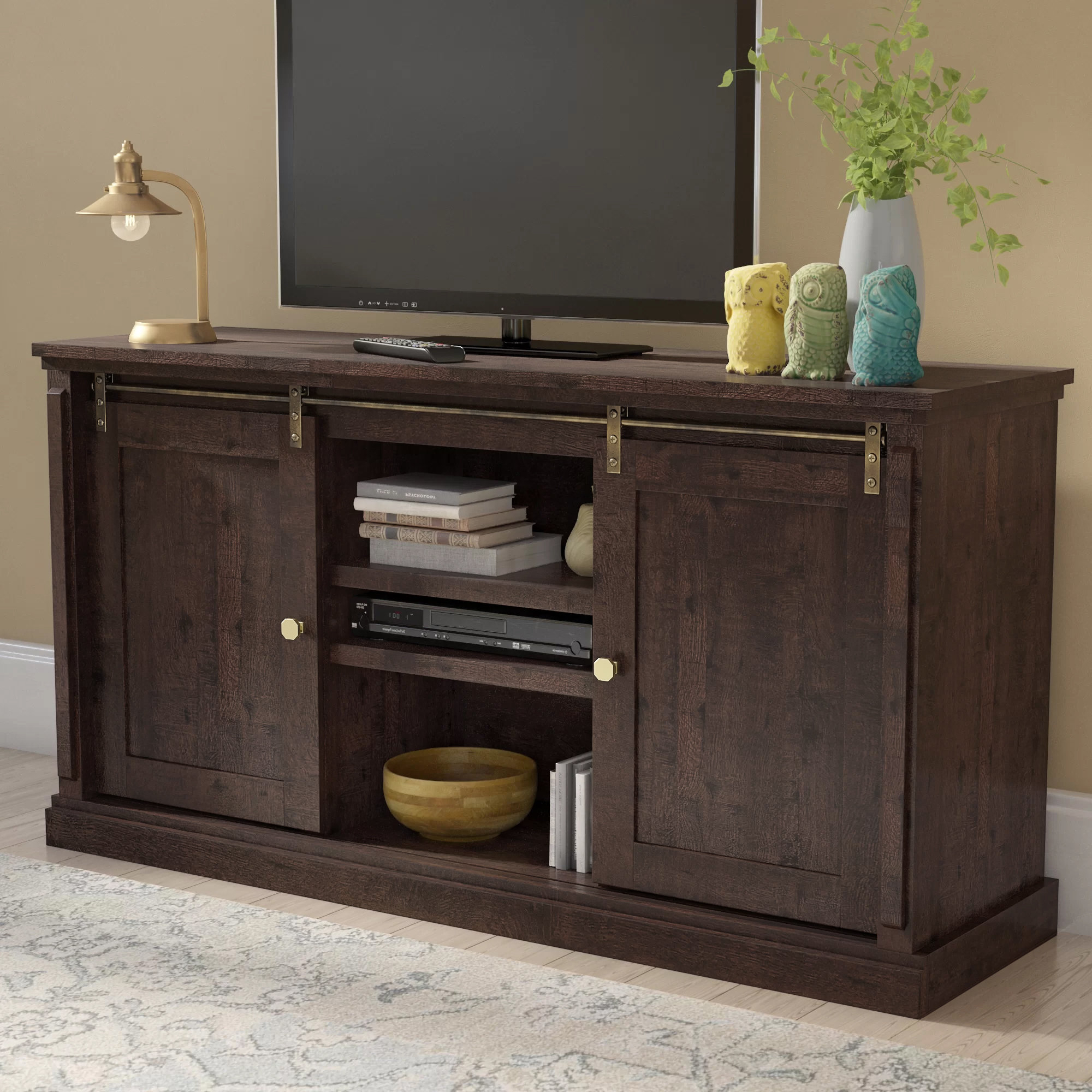 "Dark Brown Wood Tv Stands You'll Love In 2019 | Wayfair Intended For Ericka Tv Stands For Tvs Up To 42"" (View 19 of 20)"