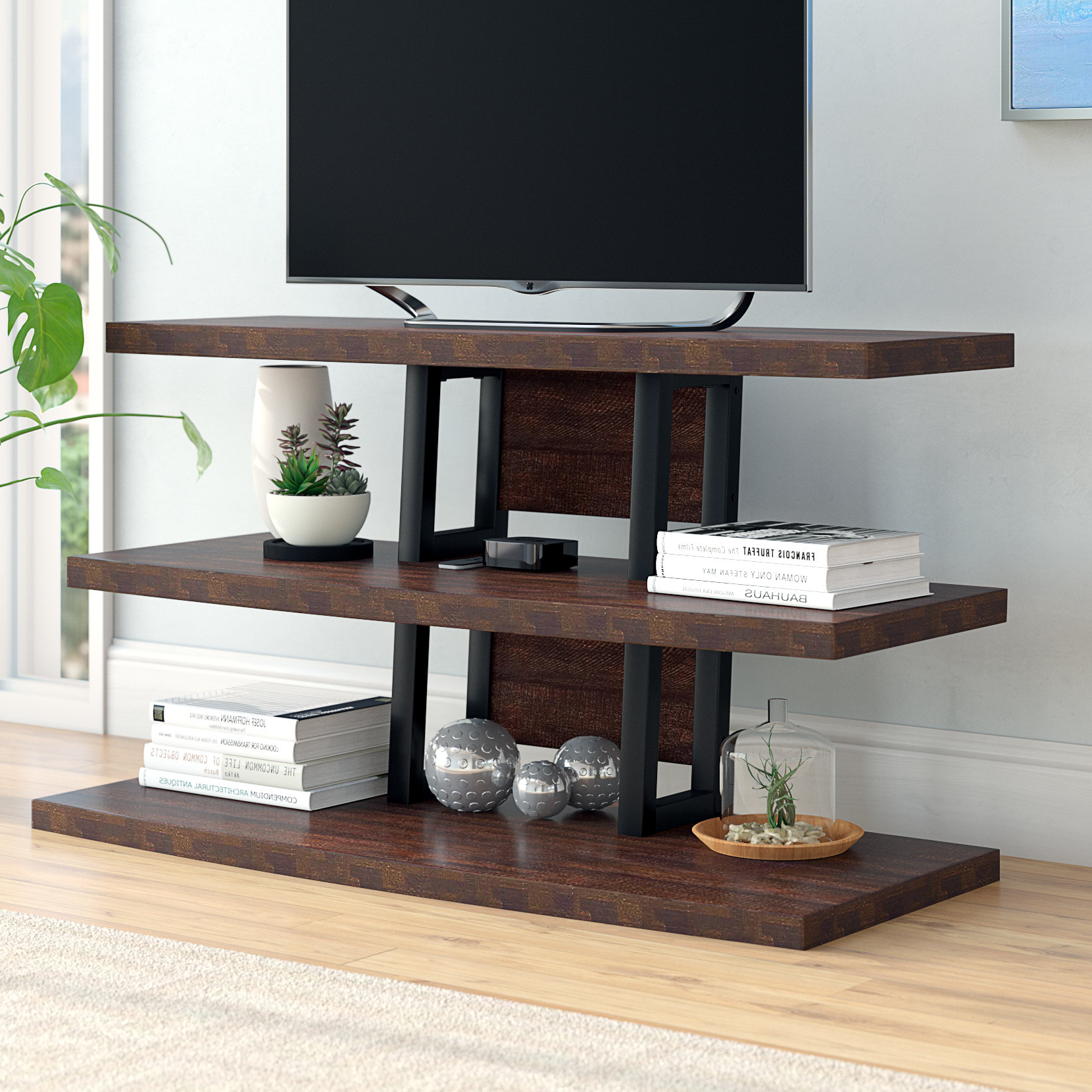 "Dark Brown Wood Tv Stands You'll Love In 2019 | Wayfair Intended For Ericka Tv Stands For Tvs Up To 42"" (View 15 of 20)"
