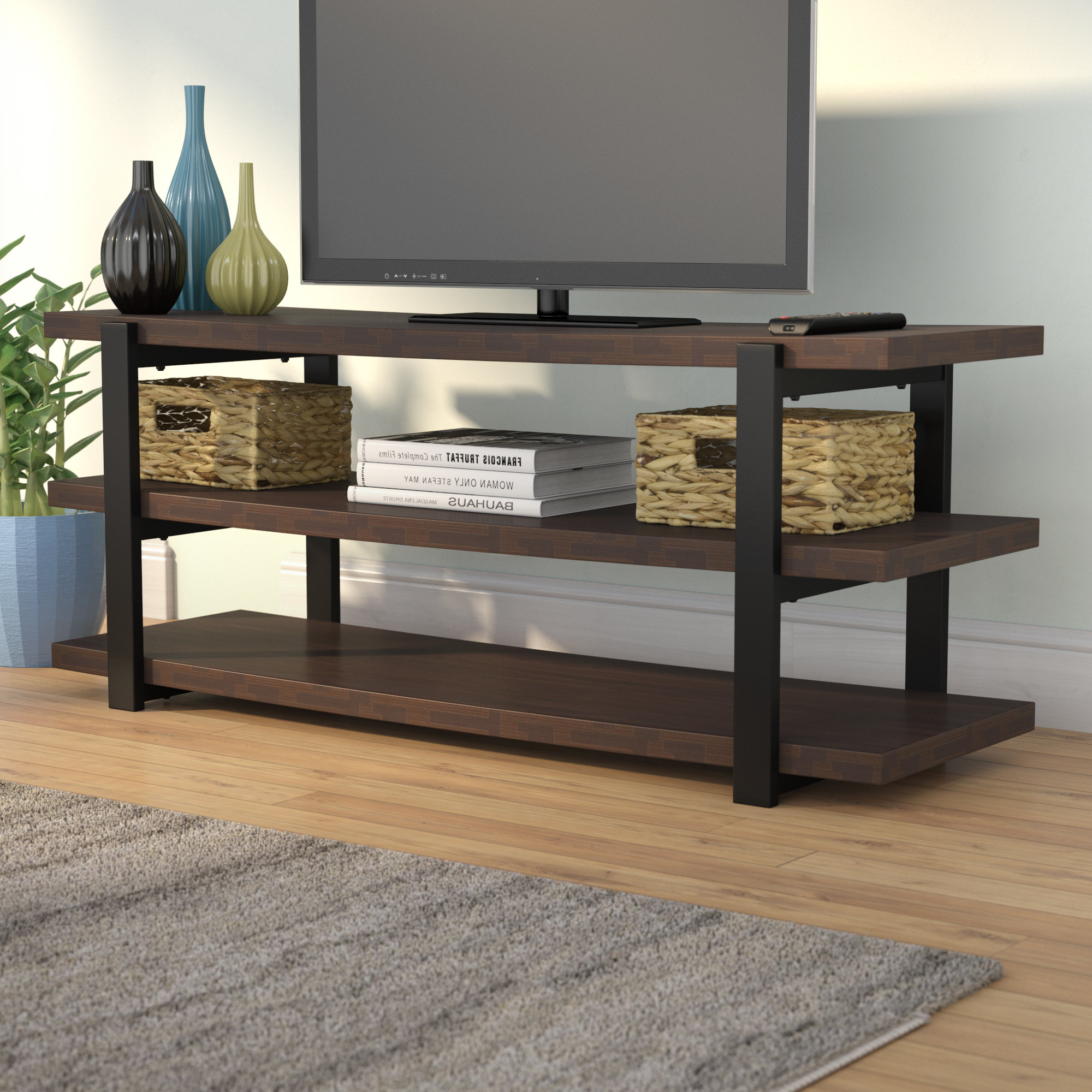 "Dark Brown Wood Tv Stands You'll Love In 2019 | Wayfair Throughout Ericka Tv Stands For Tvs Up To 42"" (View 9 of 20)"
