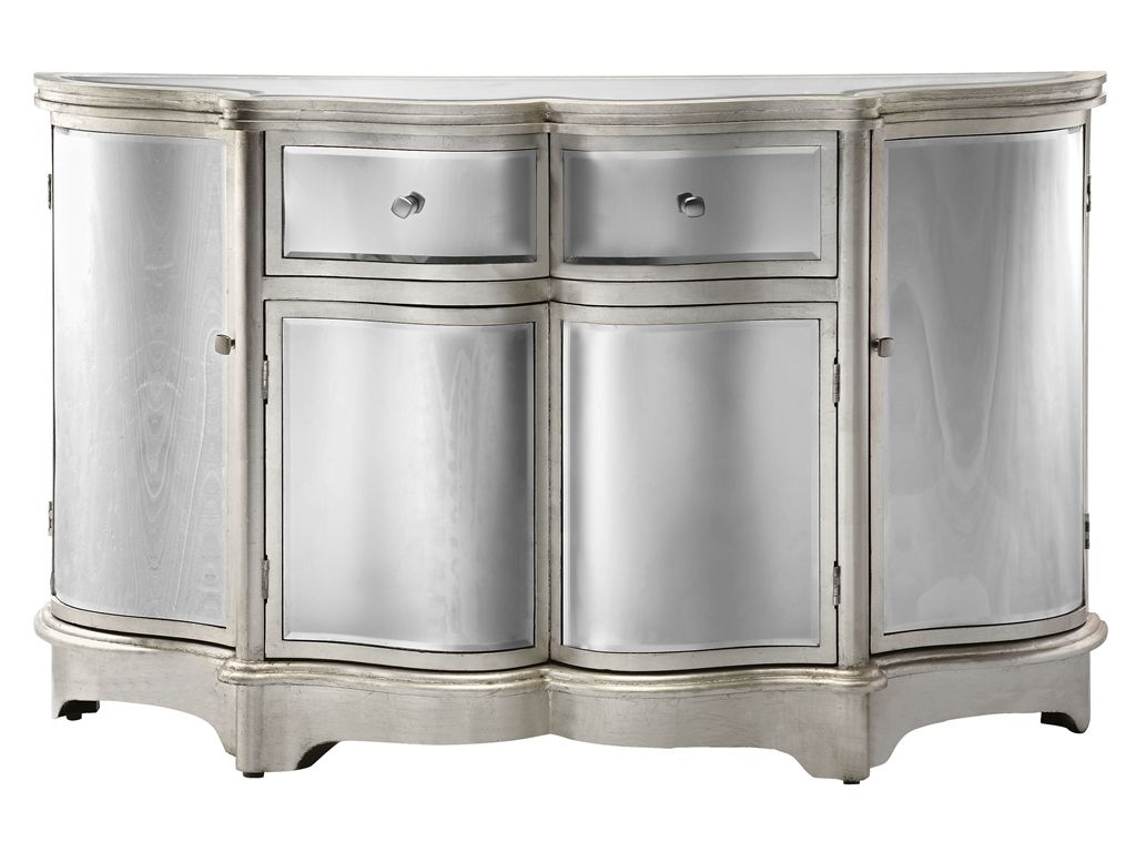 Dazzling Credenza Or Sideboard Featuring Curved Bent Mirror For Wattisham Sideboards (View 5 of 20)