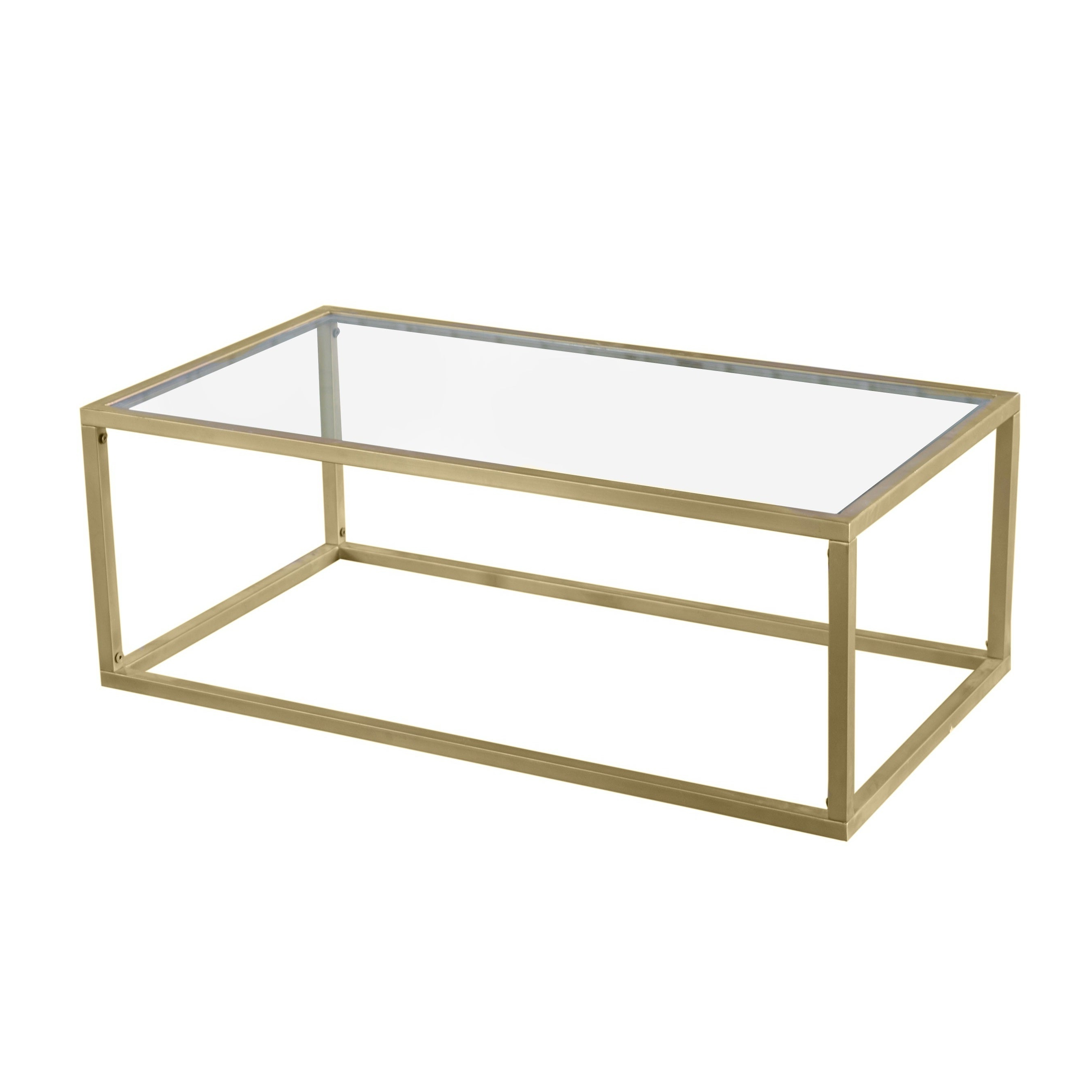 Details About Goldtone Brass And Iron Gilt Coffee Table With Well Known Furniture Of America Orelia Brass Luxury Copper Metal Coffee Tables (View 17 of 20)