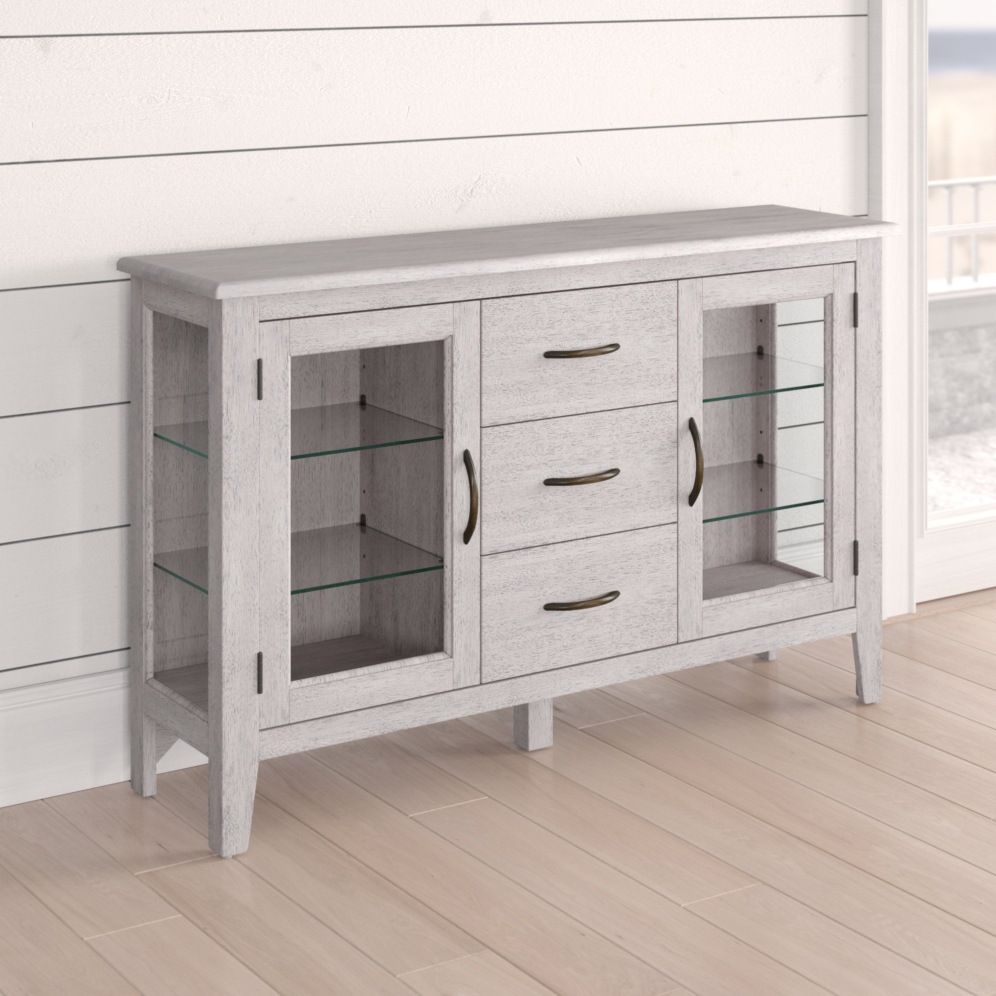 Distressed Finish Grey Sideboards & Buffets You'll Love In Pertaining To Rutledge Sideboards (View 3 of 20)