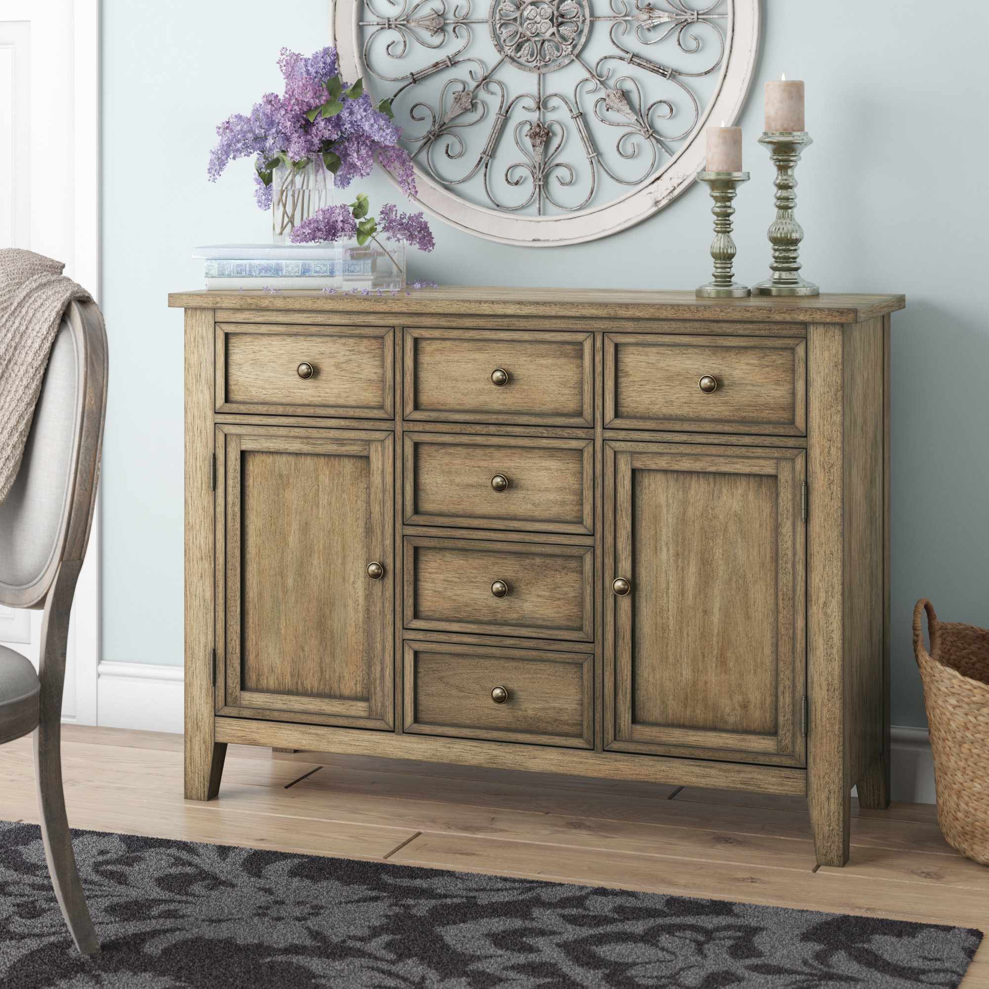Distressed Finish Grey Sideboards & Buffets You'll Love In Regarding Cazenovia Charnley Sideboards (View 7 of 20)